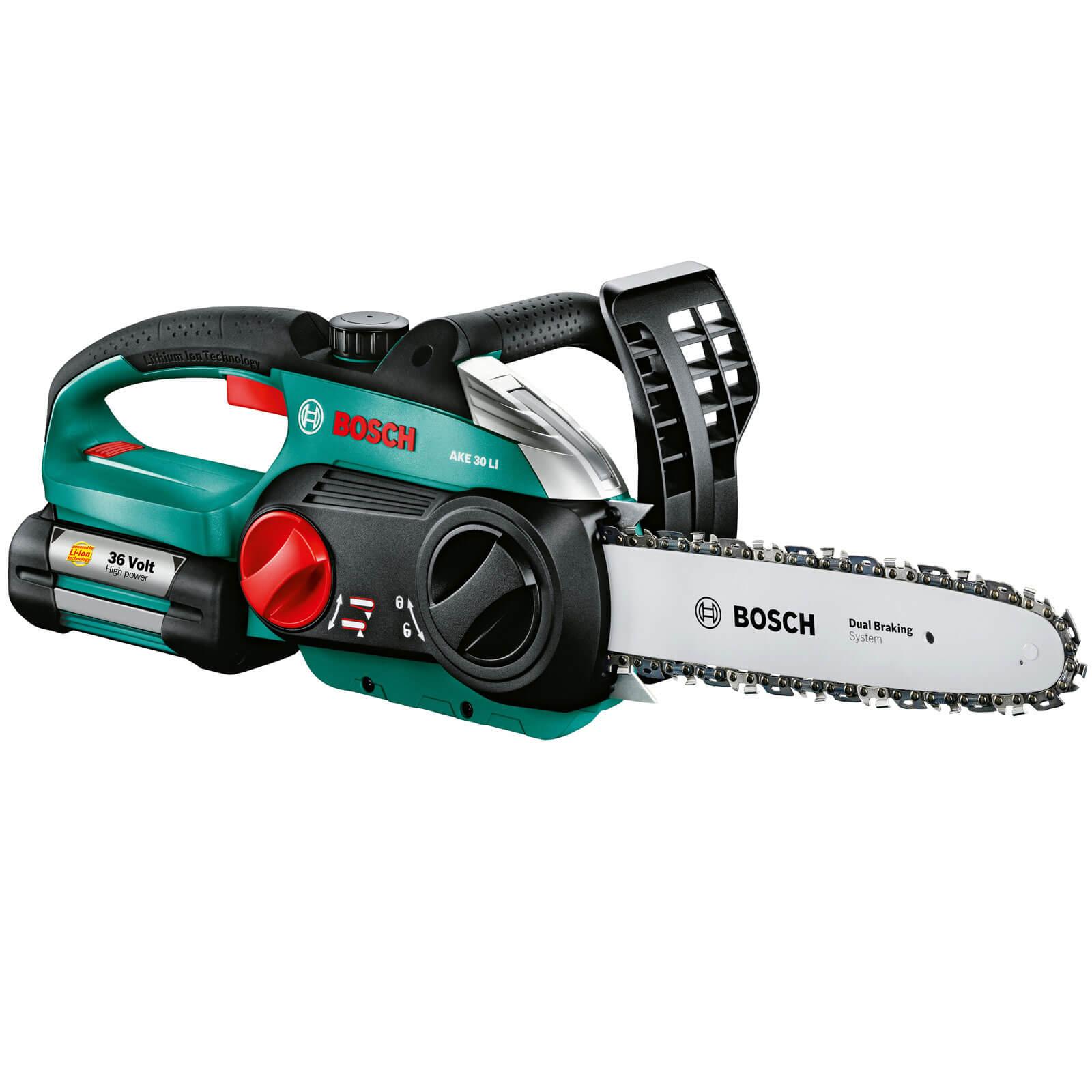 Bosch AKE 30 Li 36v Cordless Chain Saw 300mm Bar Length + 1 Lithium Ion Battery