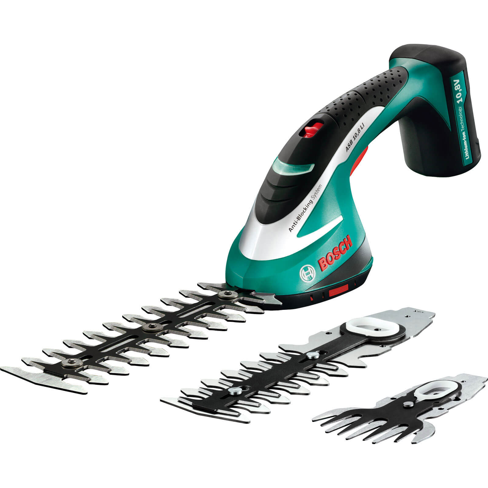 Bosch ASB 10.8v Cordless Shrub Shear Kit with Internal Lithium Ion Battery 1.3ah