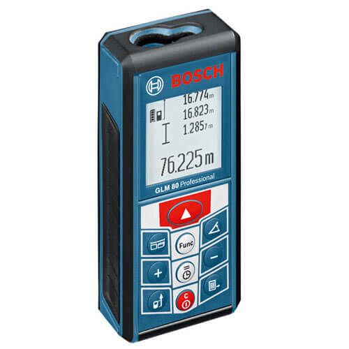 Bosch GLM 80 Laser Distance Measurer 80 Metre Range Metric & Imperial with Inclinometer Function