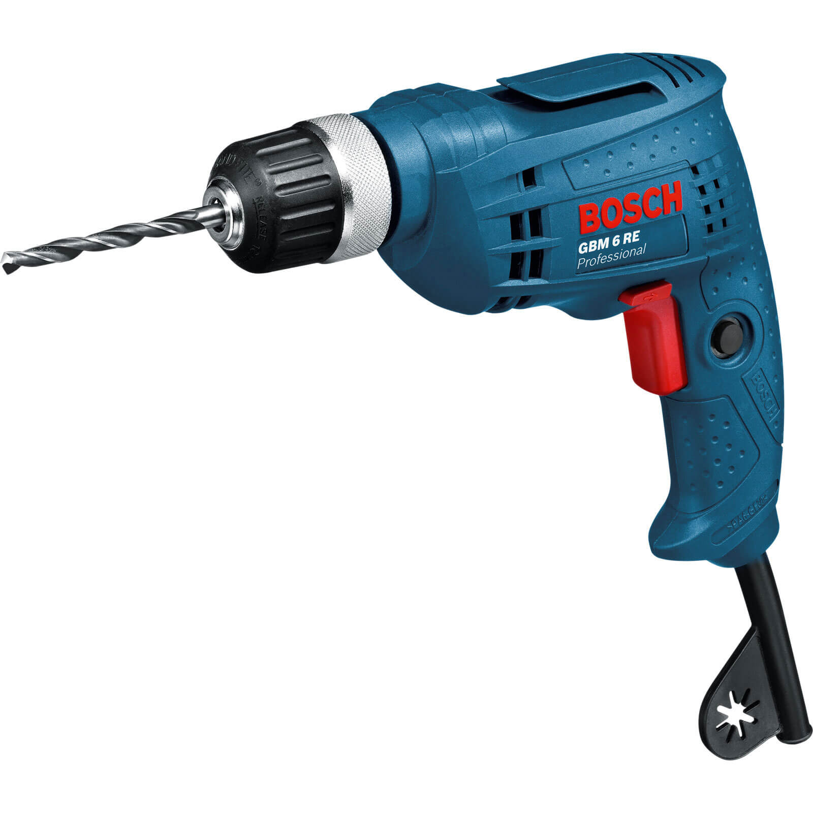 Bosch GBM 6 RE Electric Rotary Drill with Keyed Chuck 350w 240v