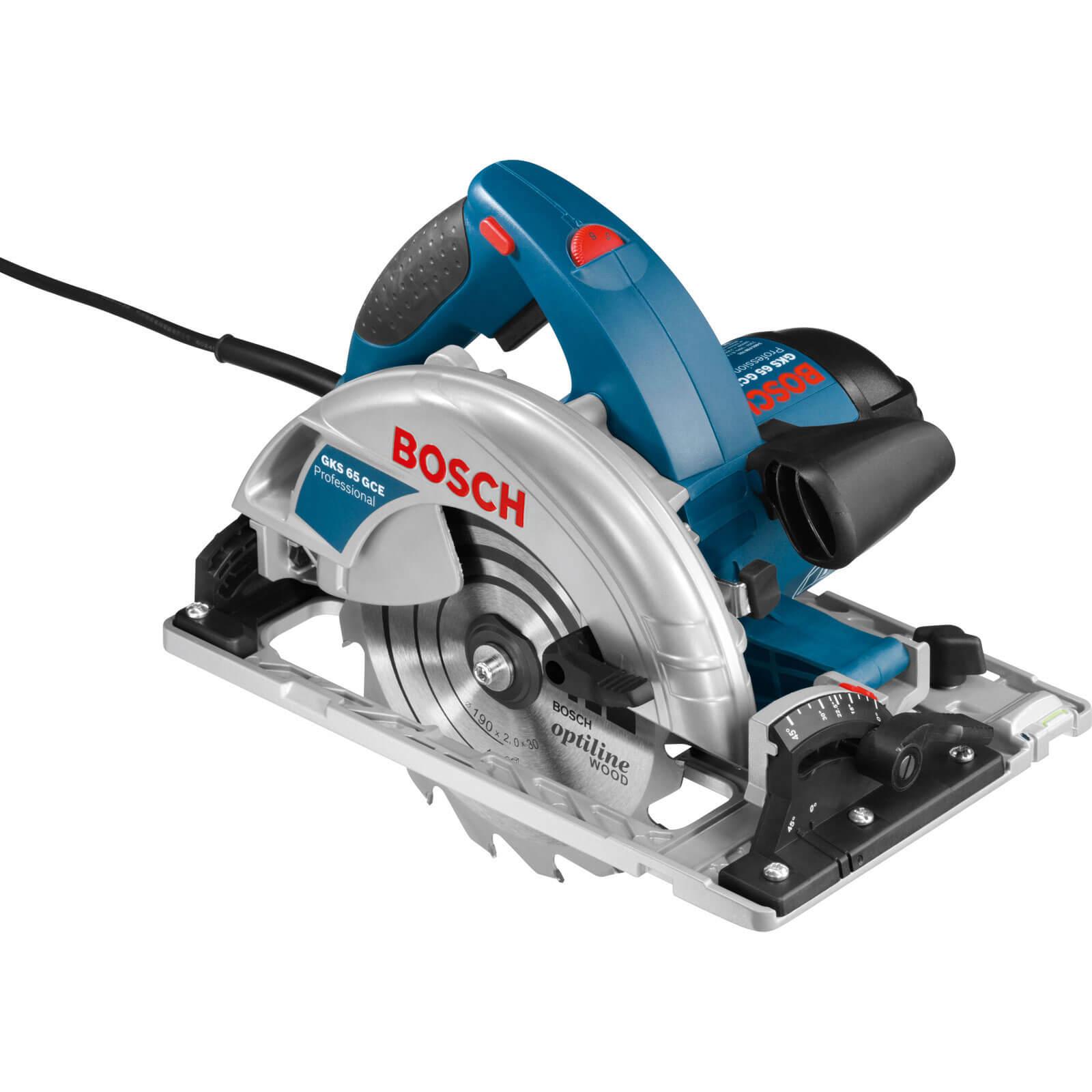 Bosch GKS 65 GCE Electric Circular Saw 190mm Blade 1800w 240v + L Boxx