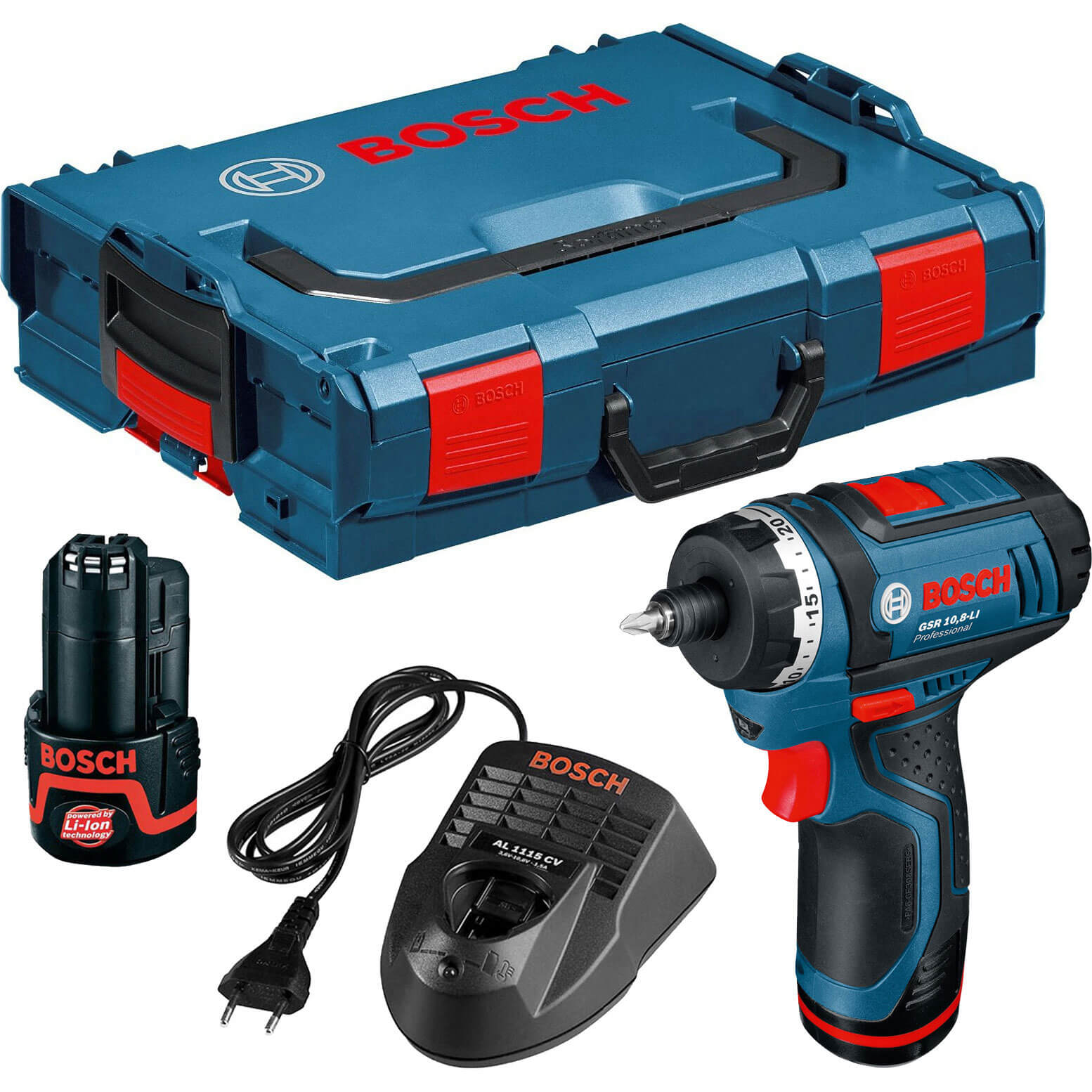 bosch gsr 10 8 li cordless 2 speed drill driver with. Black Bedroom Furniture Sets. Home Design Ideas