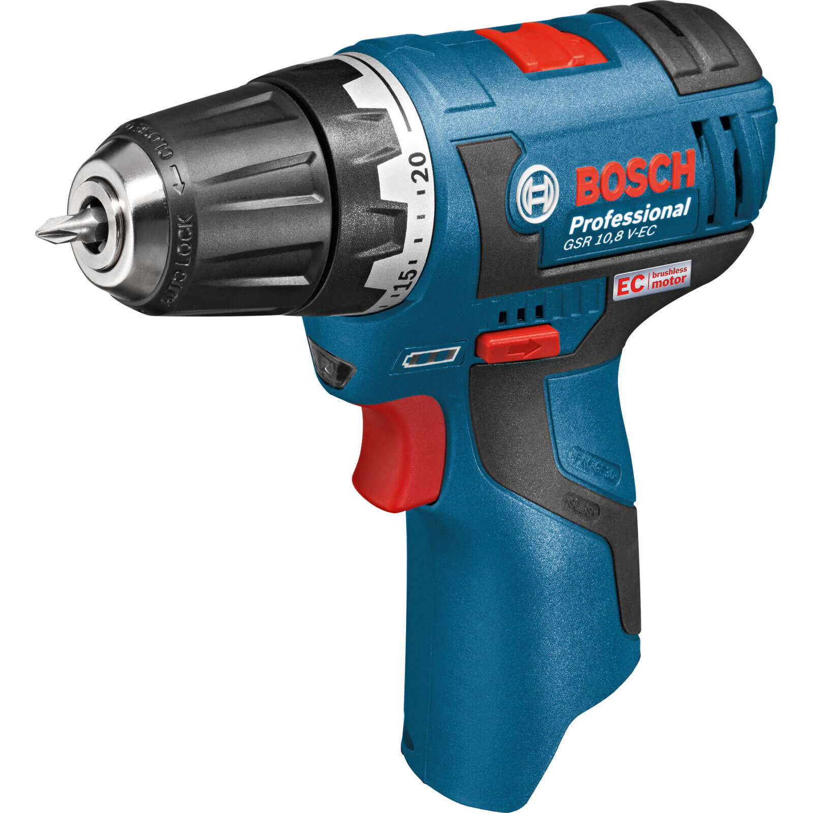 Bosch GSR 10.8 V-EC 10.8v Cordless 2 Speed Brushless Drill Driver without Battery or Charger