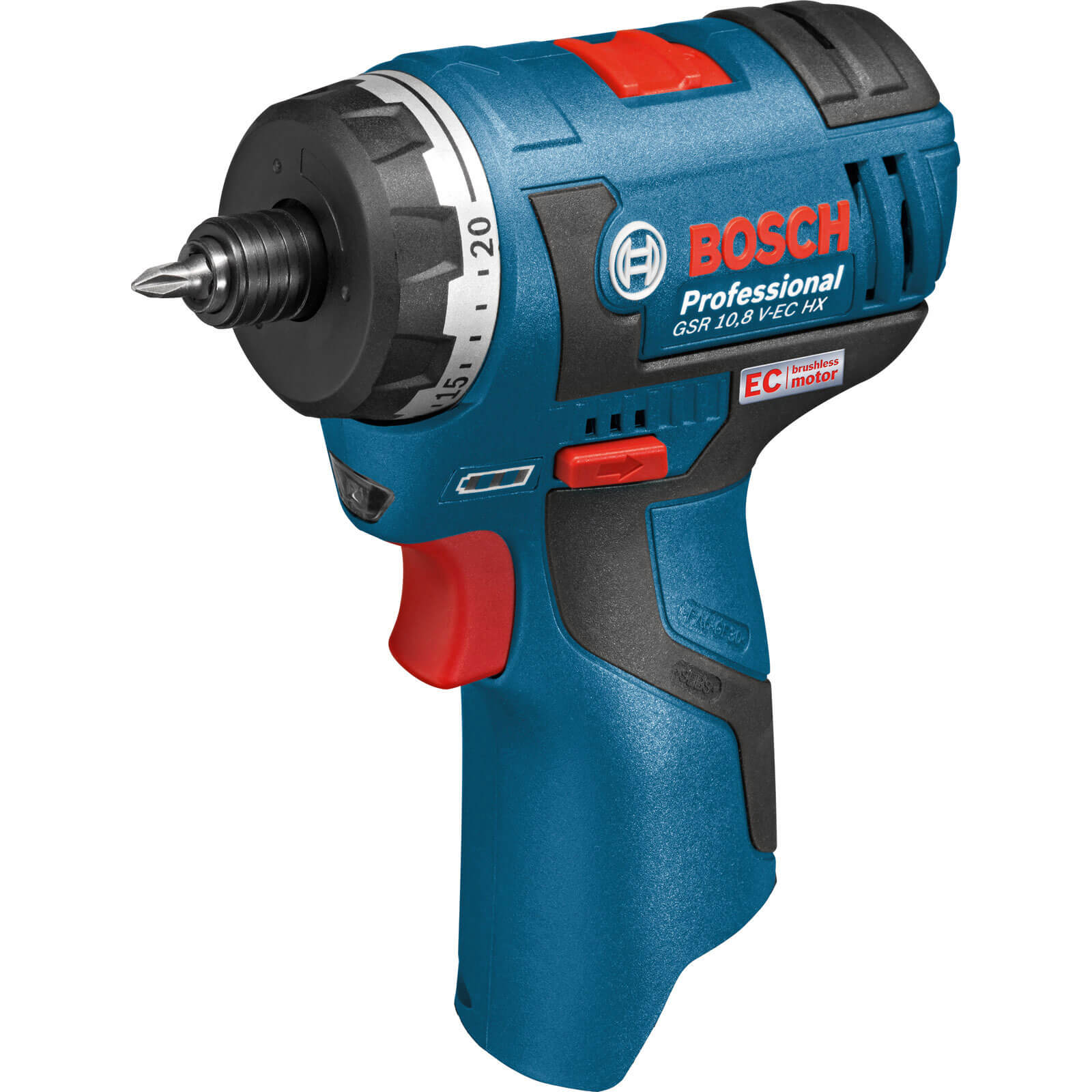 Bosch GSR 10.8 V-EC HX 10.8v Cordless 2 Speed Brushless Drill Driver without Battery or Charger