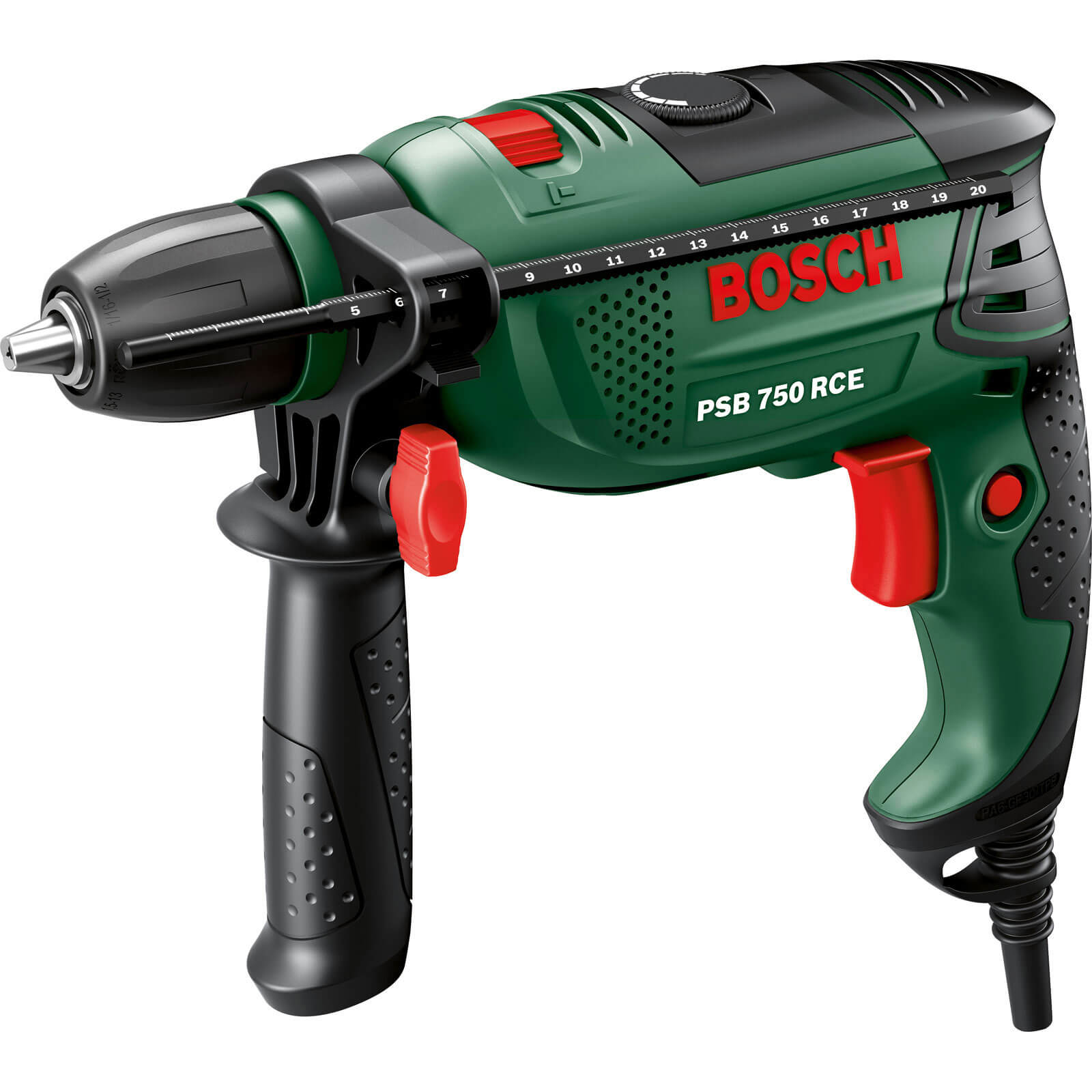 Bosch PSB 750 RCE Compact Electric Hammer Drill 750w 240v