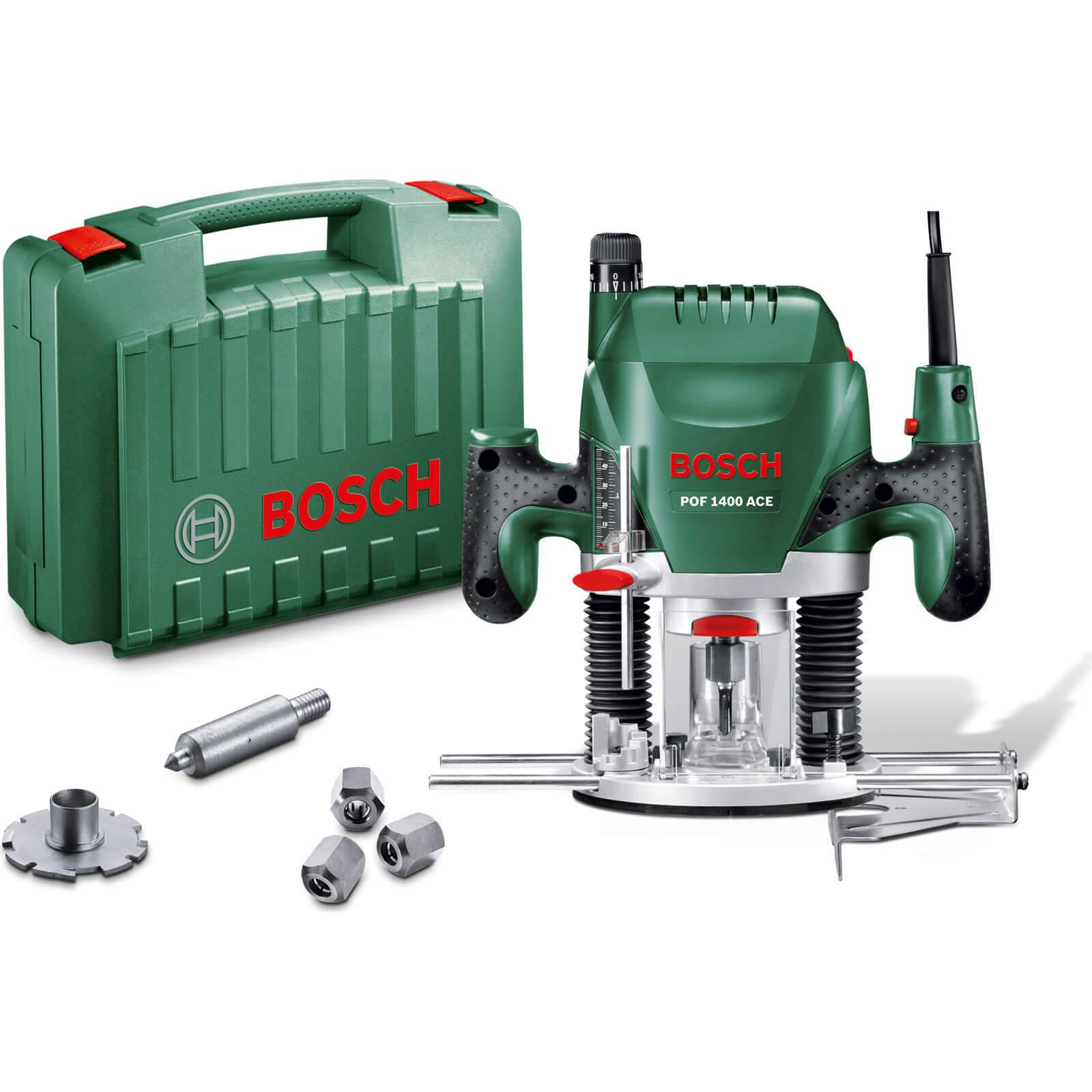 Bosch POF 1400ACE 1 4 Plunge Router 1400w 240v