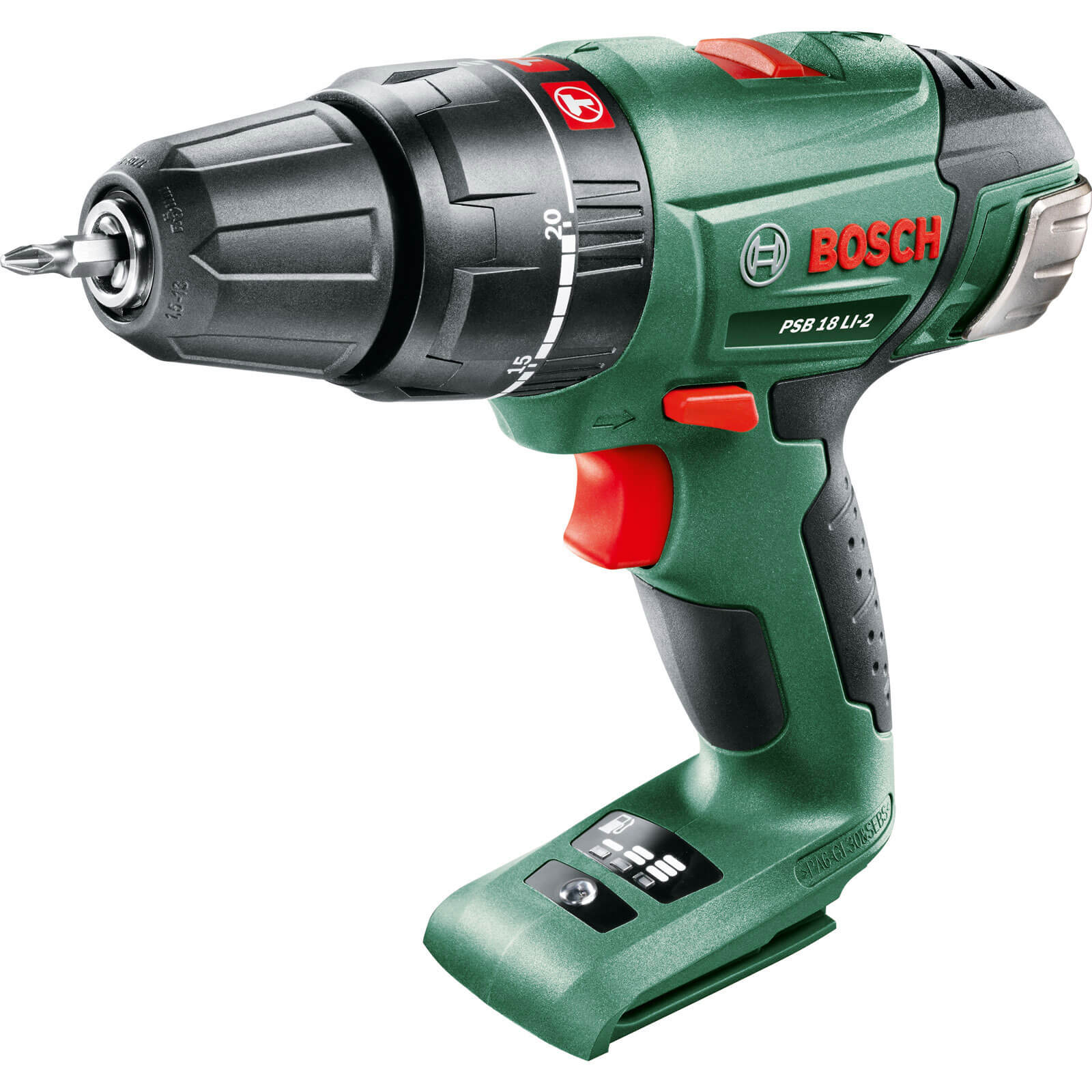 Bosch POWER4ALL PSB 18 LI-2 18v Cordless 2 Speed Combi Drill without Battery or Charger