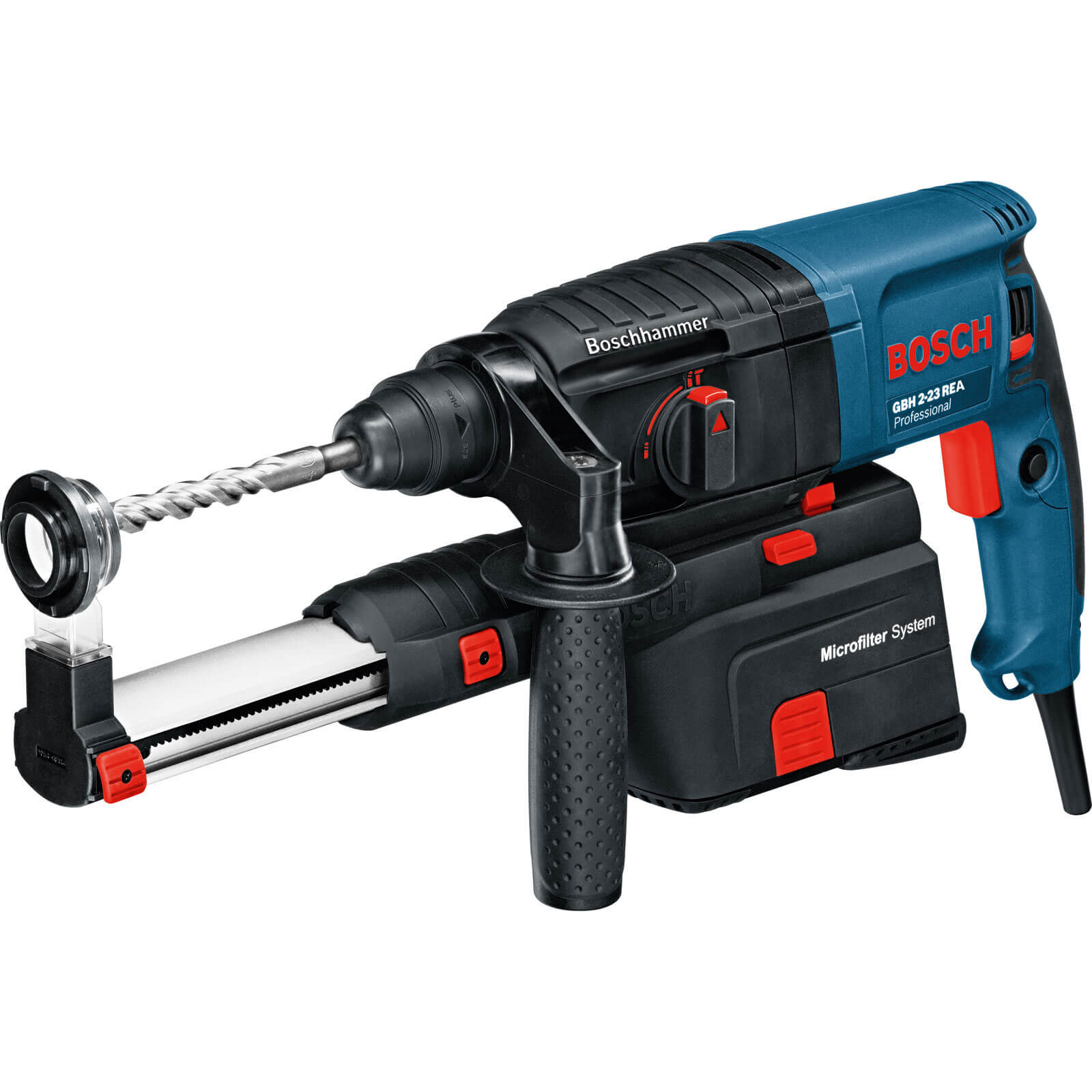 Bosch GBH 2-23REA 2Kg SDS Plus Hammer Drill + Dust Extraction 710w 240v