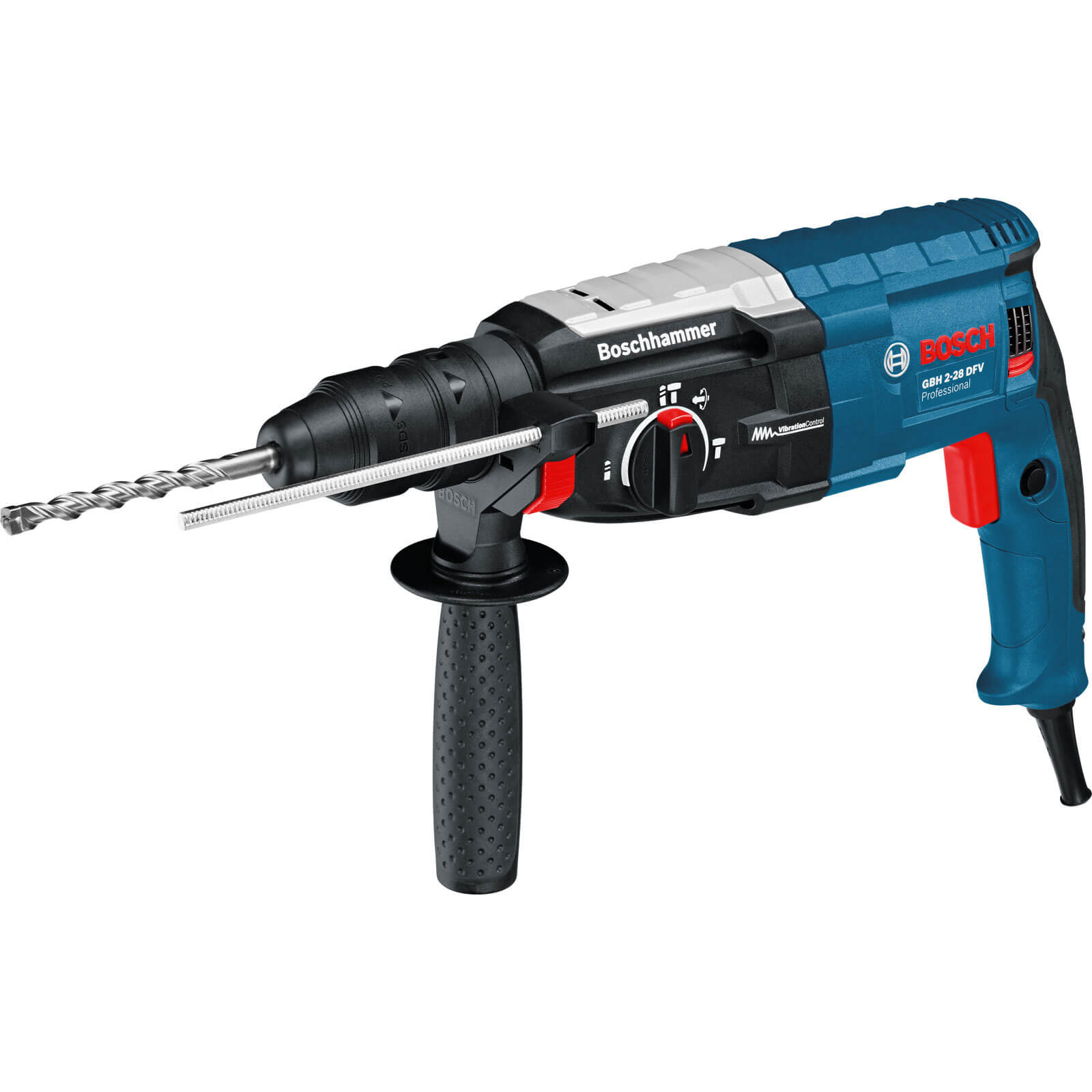 Bosch GBH 2-28 DFV SDS Plus Hammer Drill 850w 240v with Quick Change Chuck + L Boxx