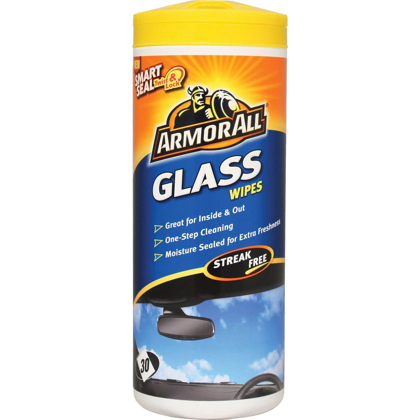 ArmorAll Car Glass Wipes Tub of 30