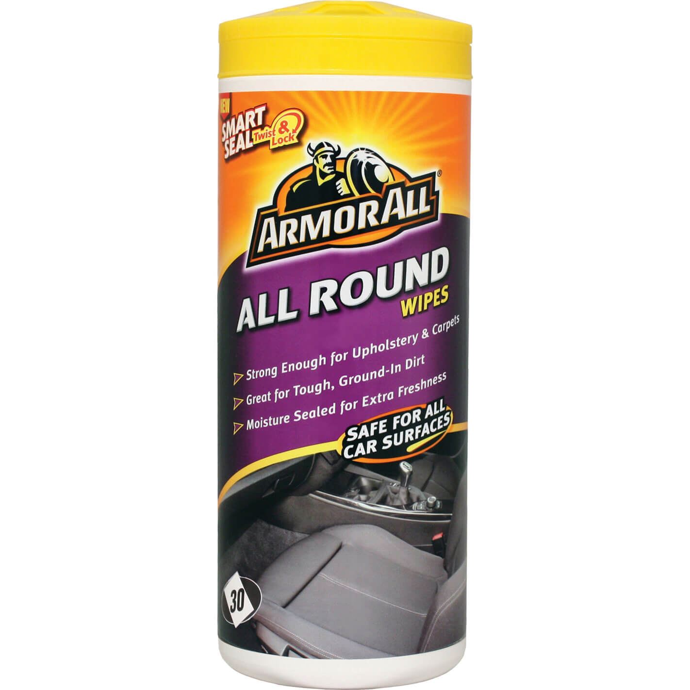 Armor All Carpet & Seat Wipes for Car Upholstery Pack of 30