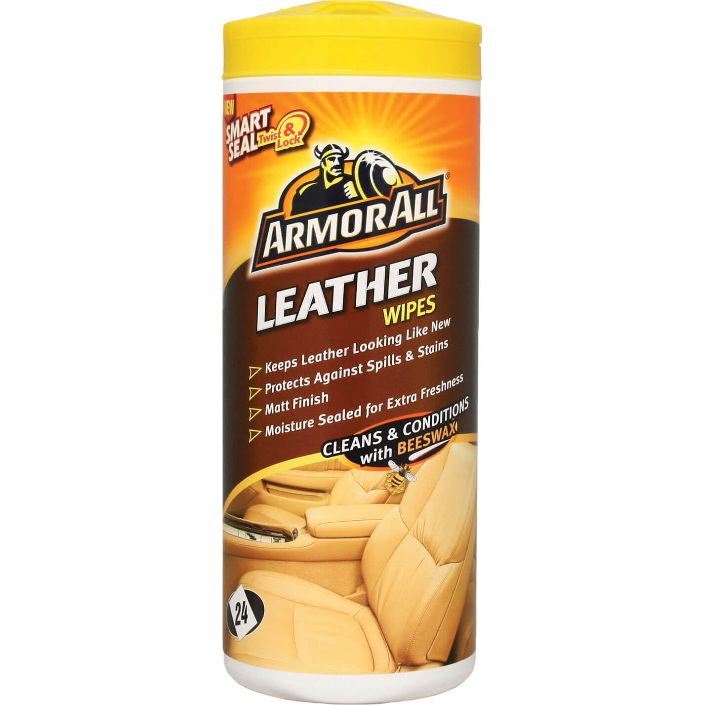 ArmorAll Car Leather Wipes Tub of 24