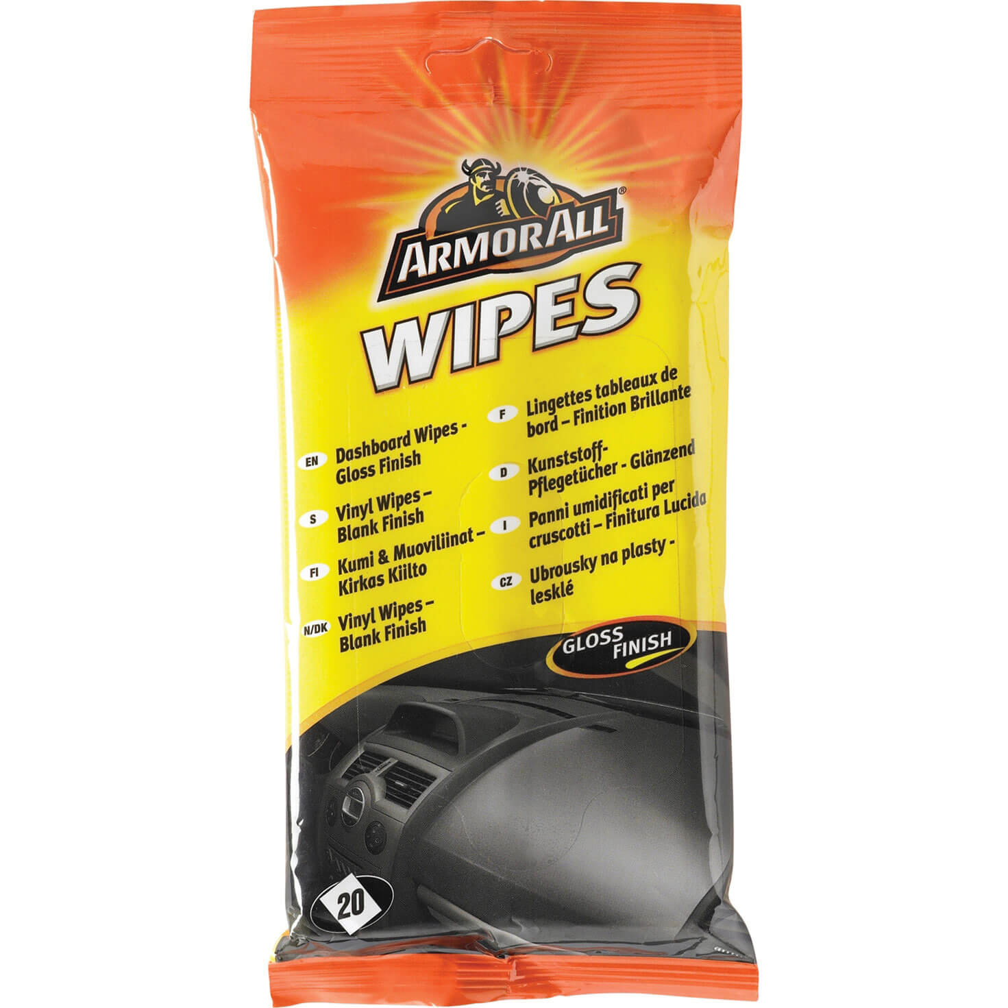 Armorall Dashboard Wipes Gloss Pouch Pack of 20