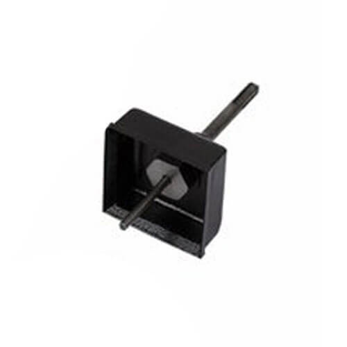 Armeg Electrical Box Socket Sinking Square Cutter + SDS Plus Adaptor