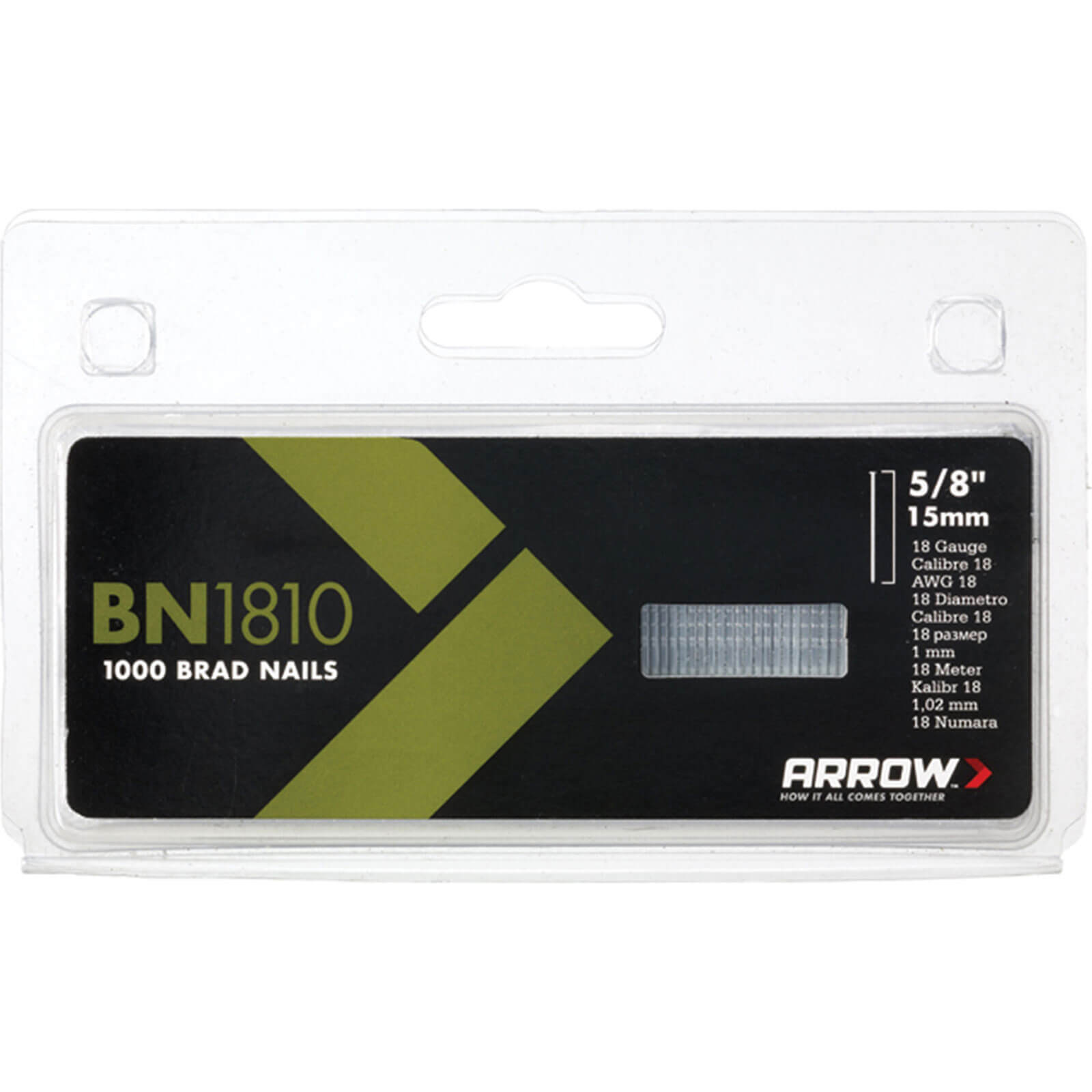 Arrow Bn1810 Brad Nails (Box Of 500)