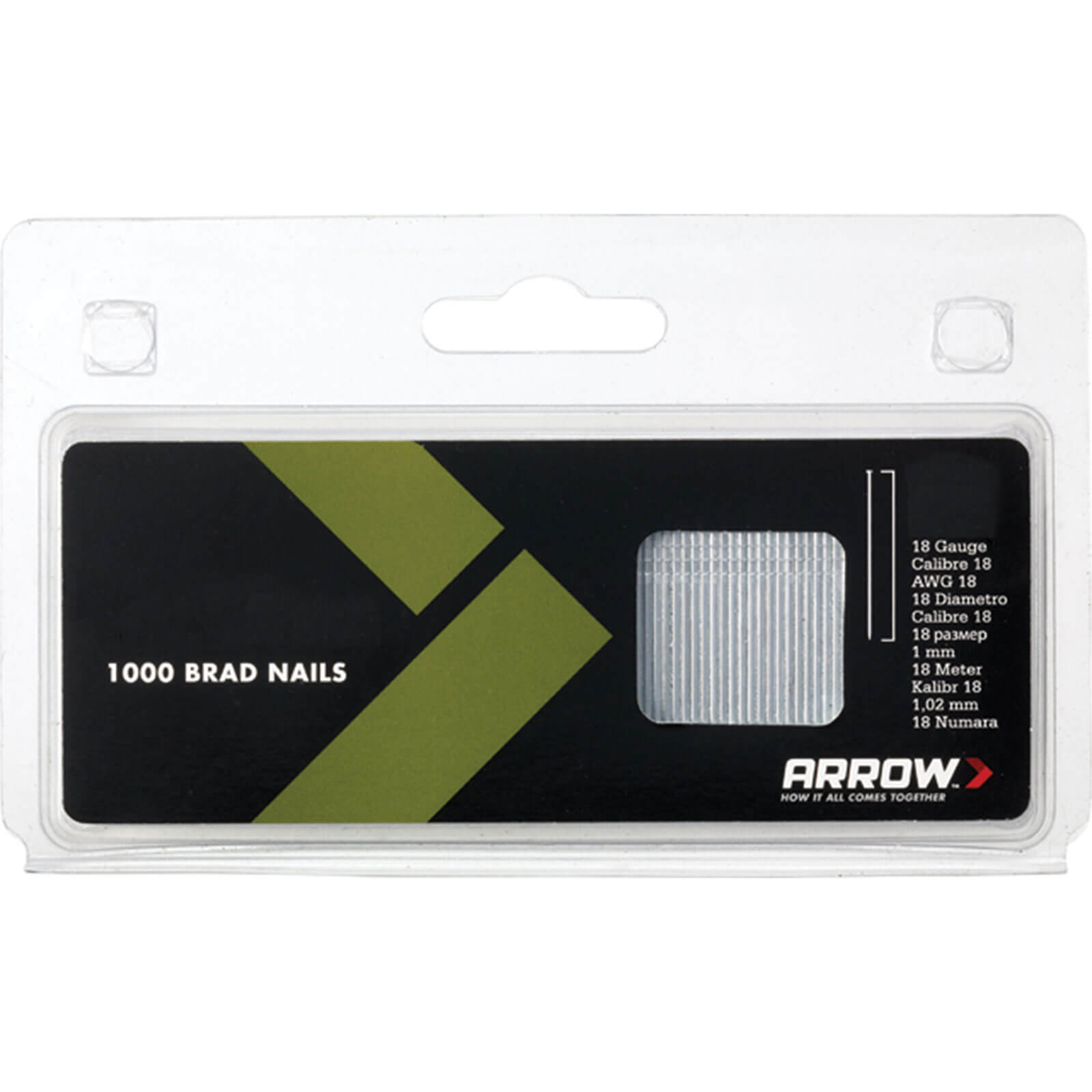 Arrow 18 Gauge Brad Nails 38mm of 1000