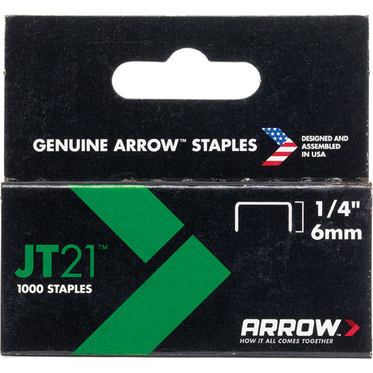 "Arrow 214 Staples 6mm / 1/4"" Pack of 1000 for JT21 & 21C"