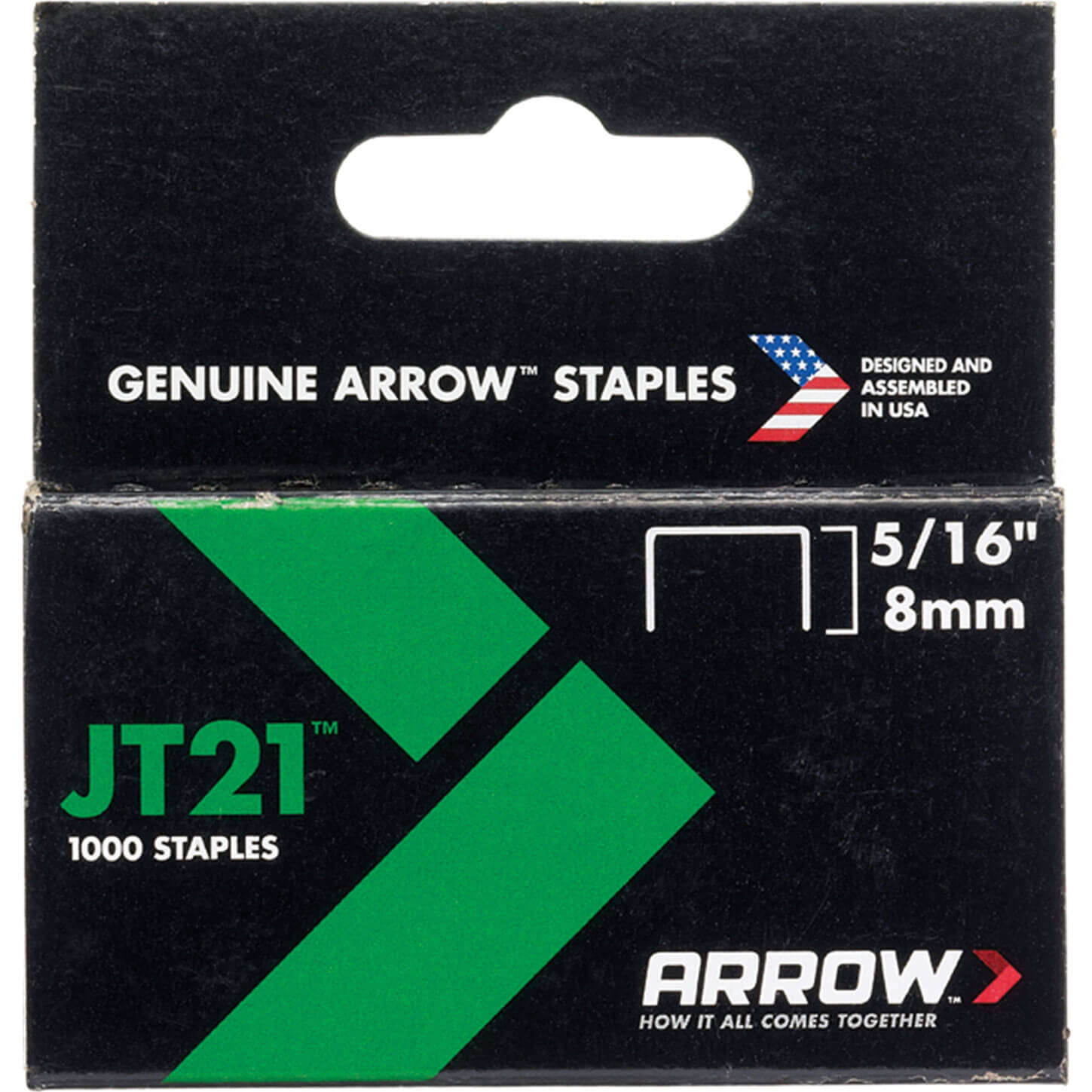 "Arrow 215 Staples 8mm / 5/16"" Pack of 1000 for JT21 & 21C"