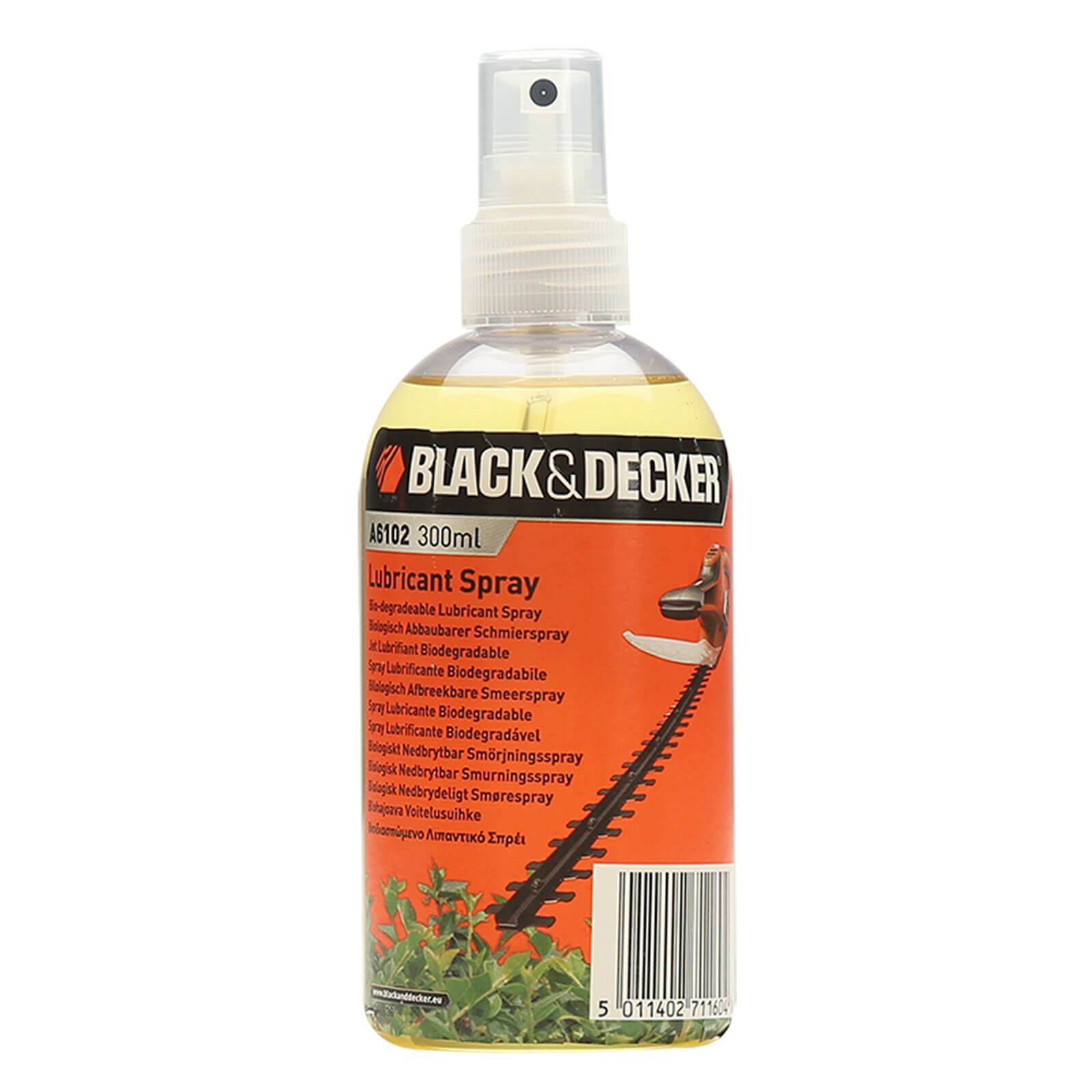Black & Decker 300ml Oil Lubricant Spray for All Hedge Trimmers