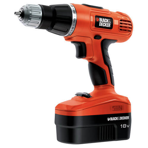 Black & Decker EPC188BK 18v Cordless Combi Drill with 2 Batteries 1.2ah in Kitbox