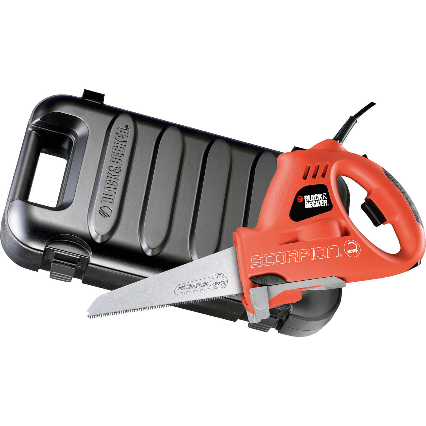 Black & Decker KS890EK Scorpion Saw in Kitbox with 3 Blades 400w 240v