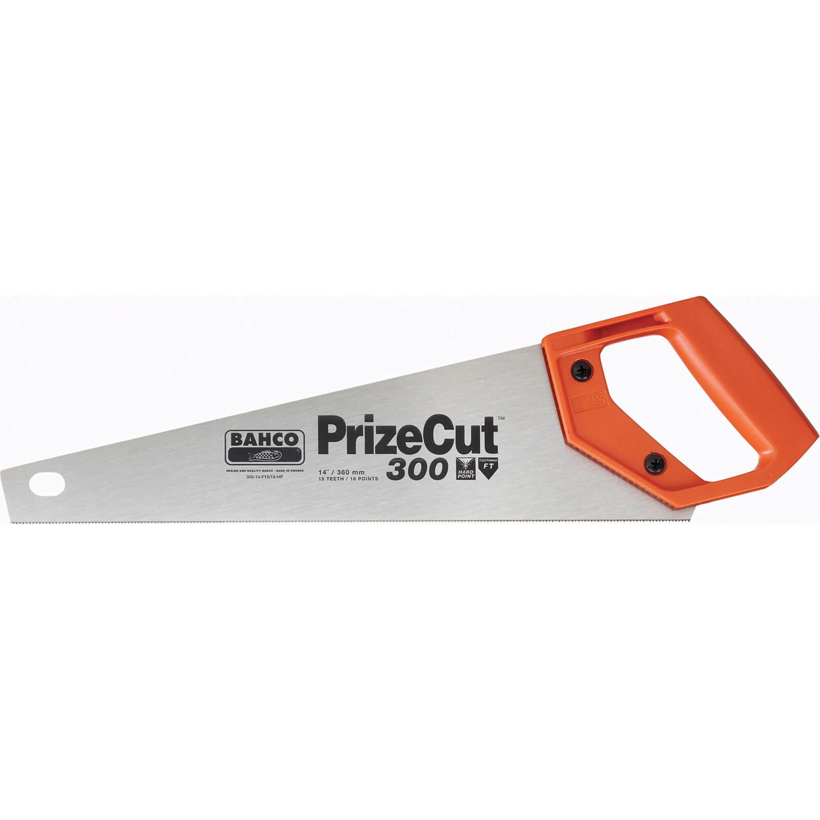 Bahco 15tpi Fine Cut Toolbox Hand Saw for Wood 350mm / 14""
