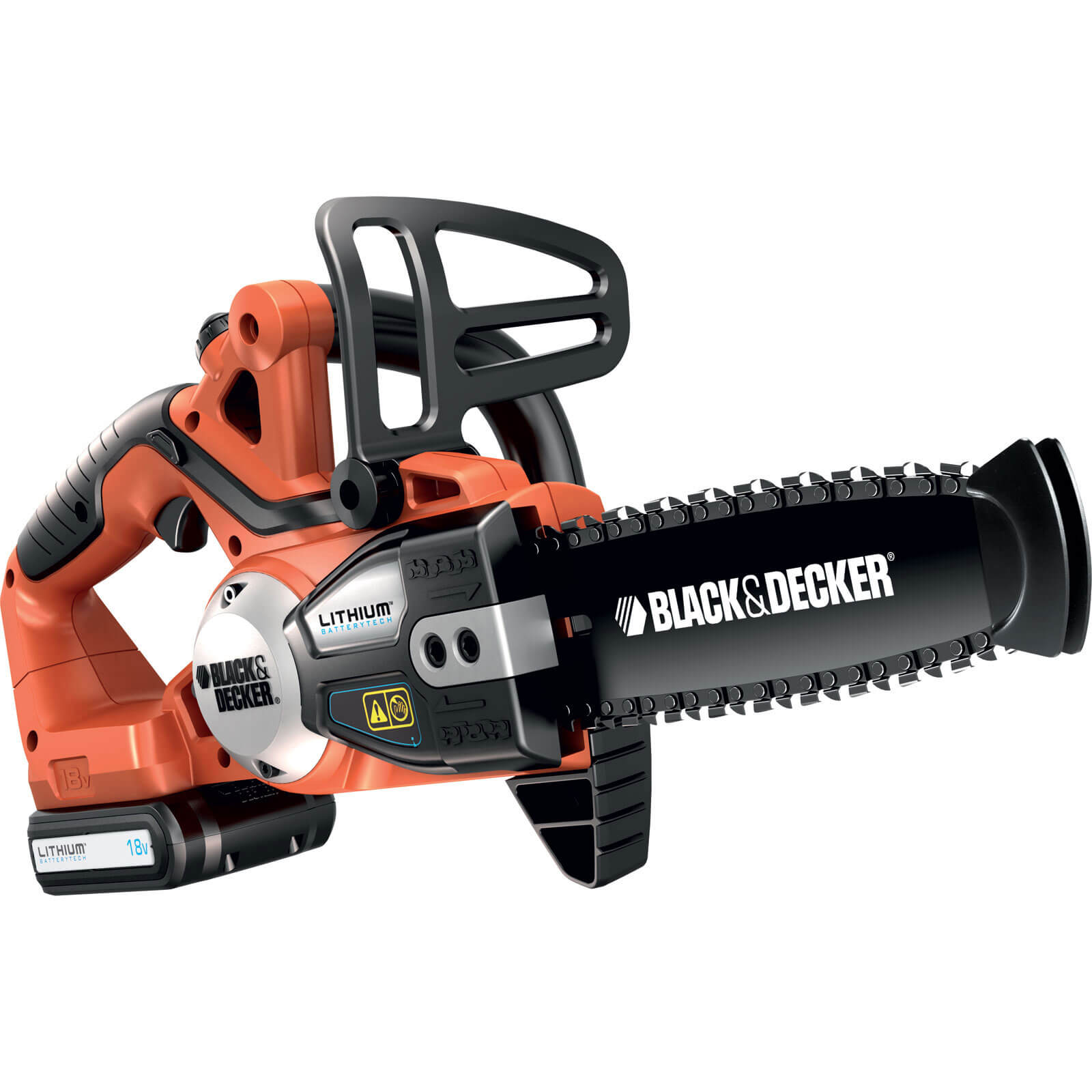 Black & Decker GKC1820L 18v Cordless Chain Saw 200mm / 8&quot Bar + 1 Lithium Ion Battery 1.5ah Plus FREE 2nd Battery Worth £62.95