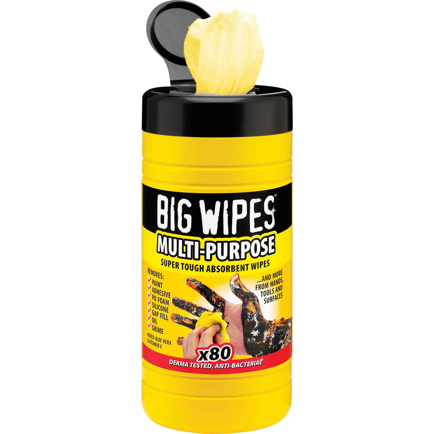 Big Wipes Industrial Cleaning Wipes Tub of 80 Wipes