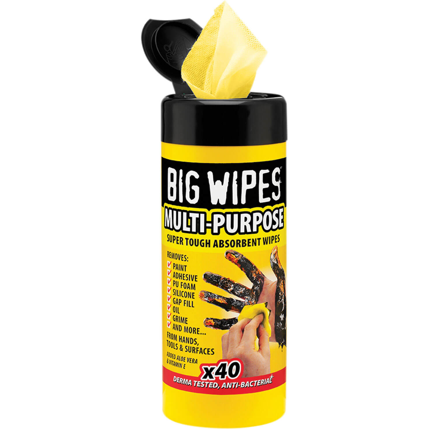 Big Wipes Industrial Cleaning Wipes Tub of 40 Wipes