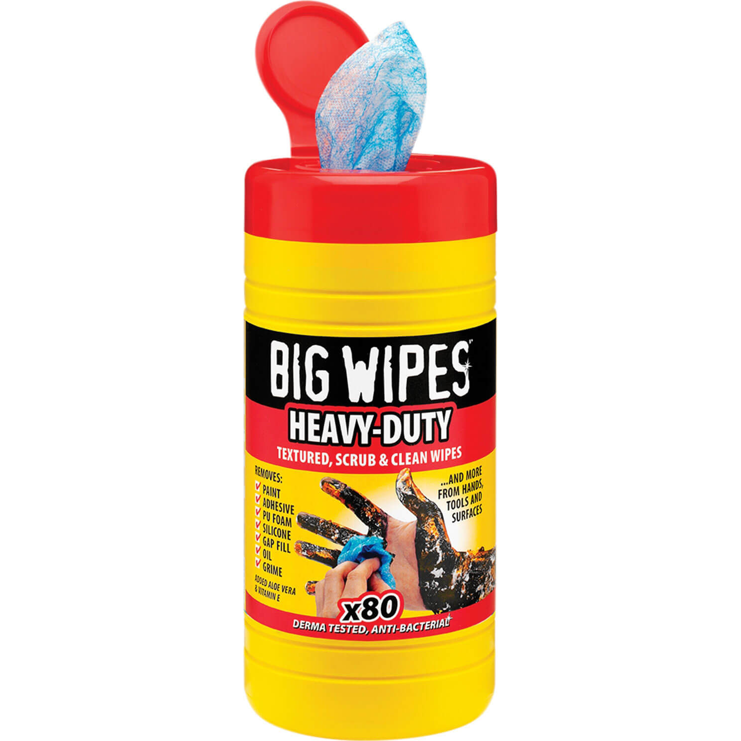Big Wipes Industrial Plus Cleaning Wipes Tub of 80 Wipes