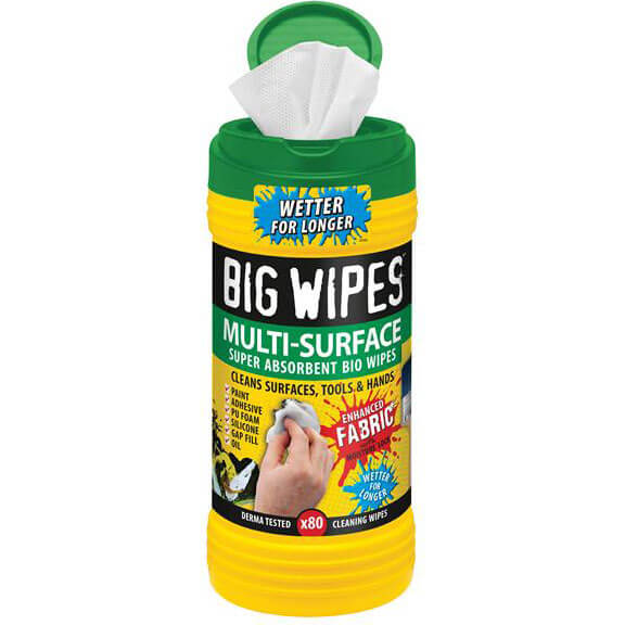 Big Wipes Green Top 4x4 Multi Surface Hand Cleaning Wipes Tub of 80