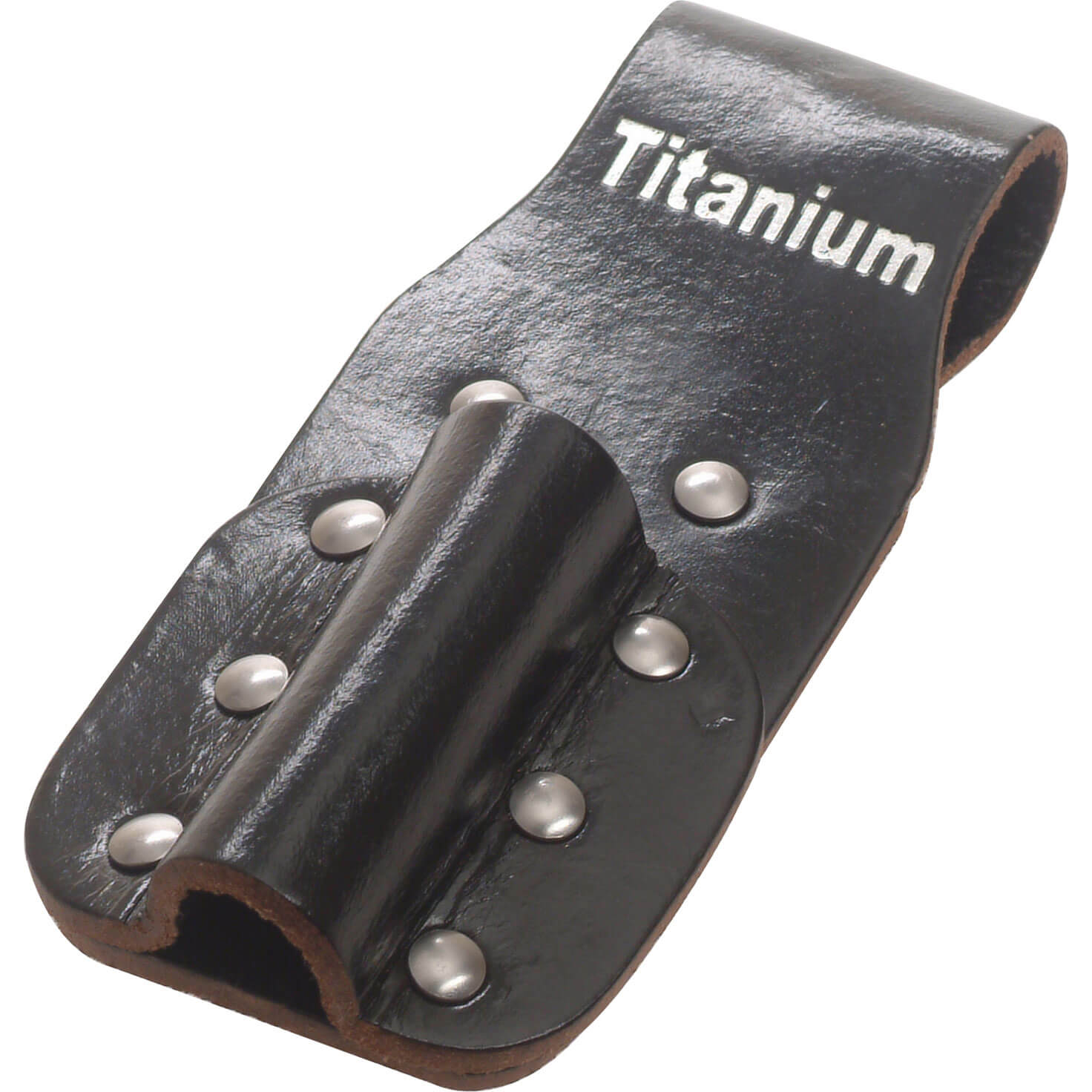 Bi Metal Black Leather Holster for Scaffold Spanners with Belt Loop