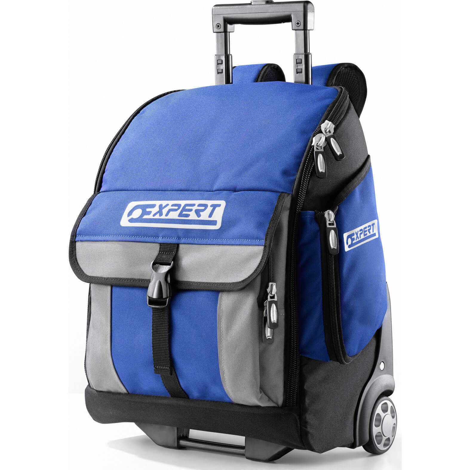 Britool Expert 2 in 1 Tool Backpack Wheeled Trolley with Telescopic Handle