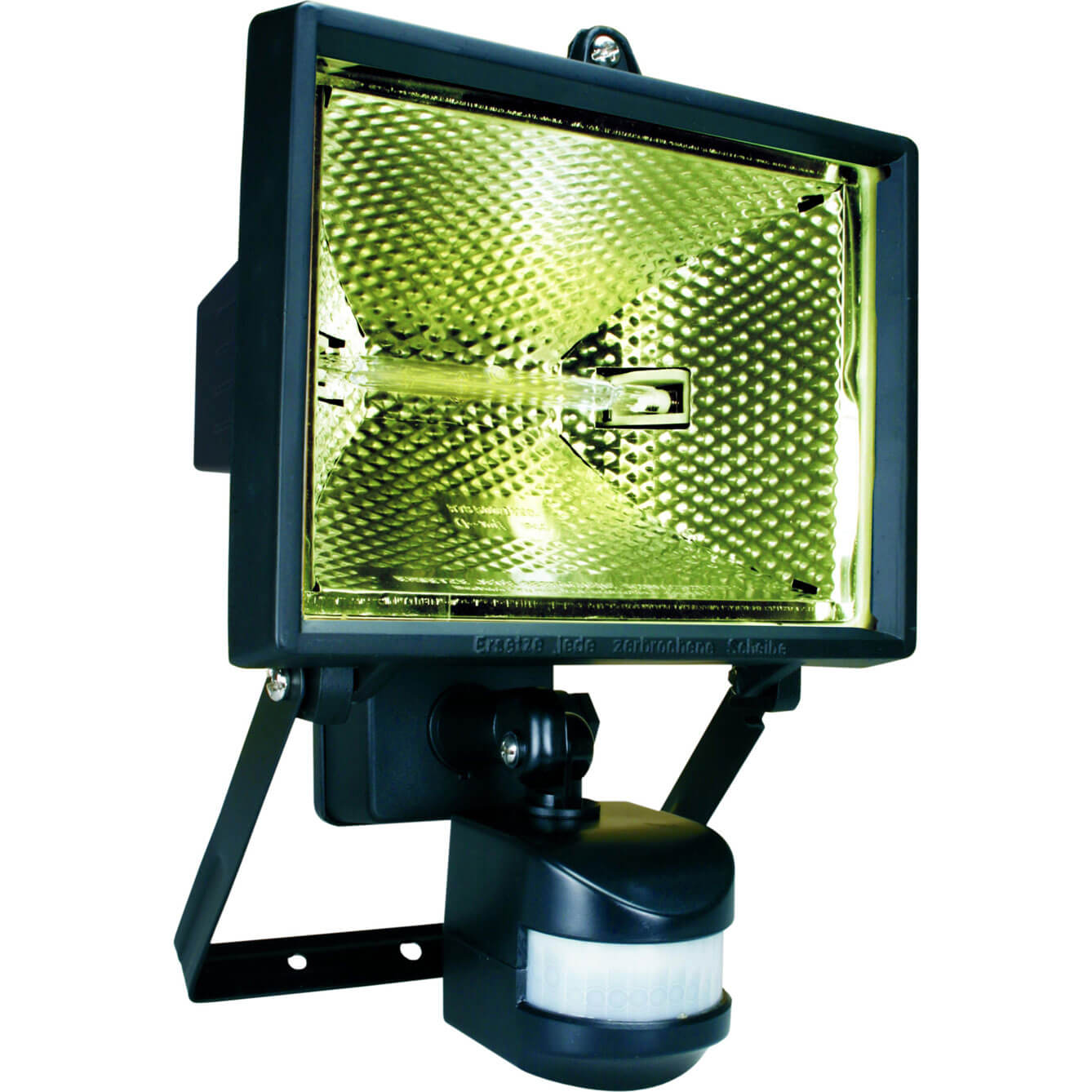 Byron ES400 Halogen Floodlight with Motion Detector Black 400w 240v