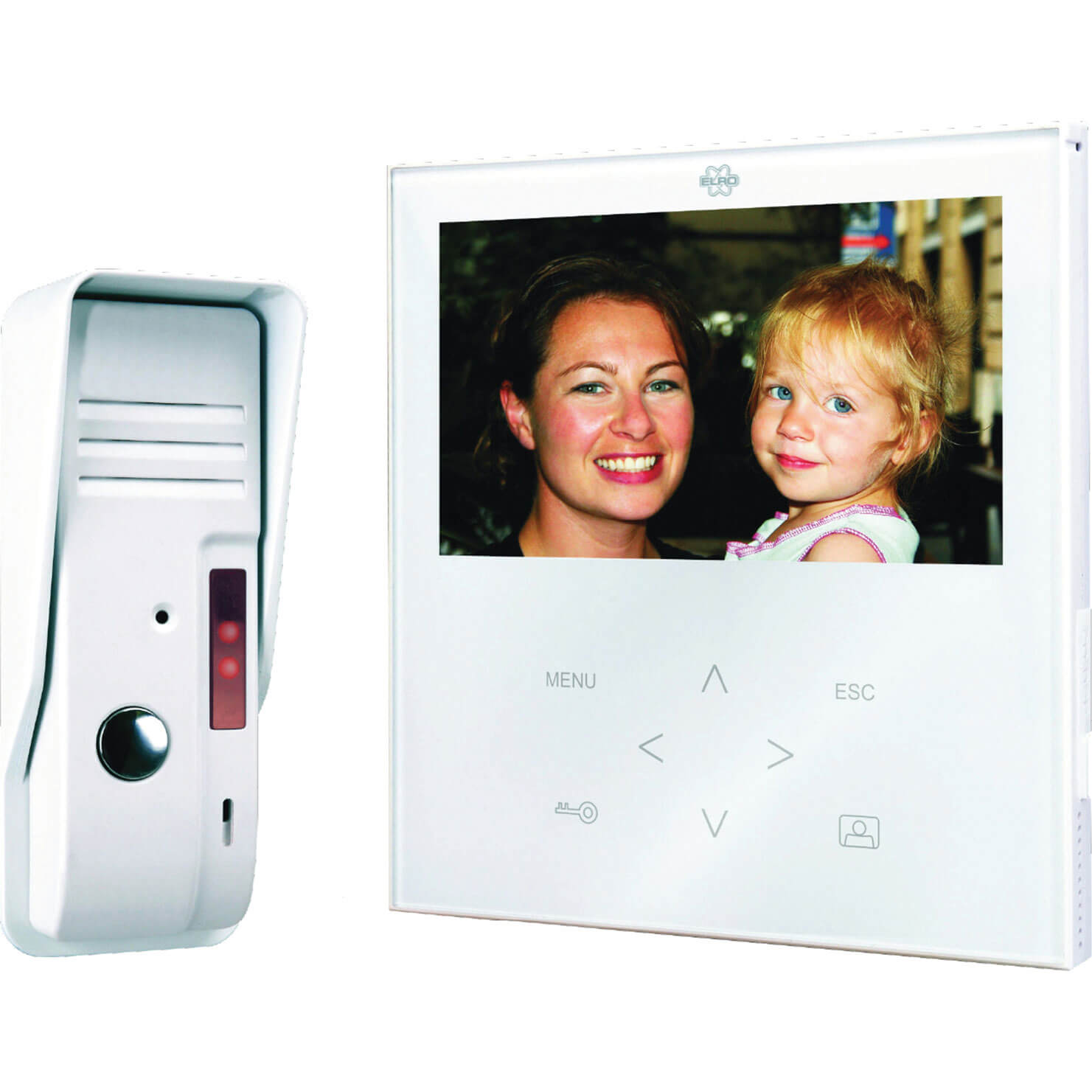 Byron Elegant Touch Video & Audio Door Intercom 240v
