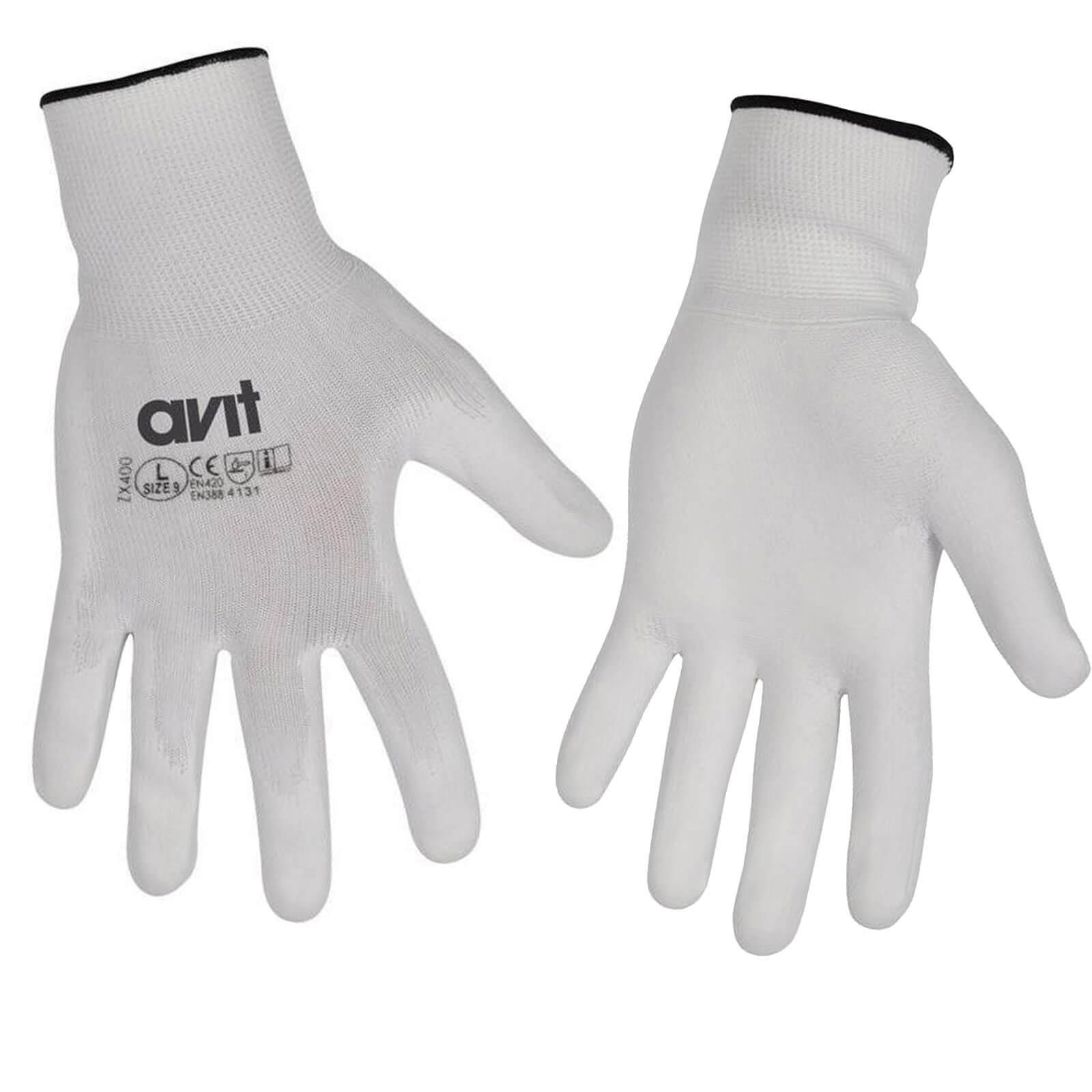 Tooled Up/Safety & Workwear/PPE/Avit Polyurethane Coated Gloves Large