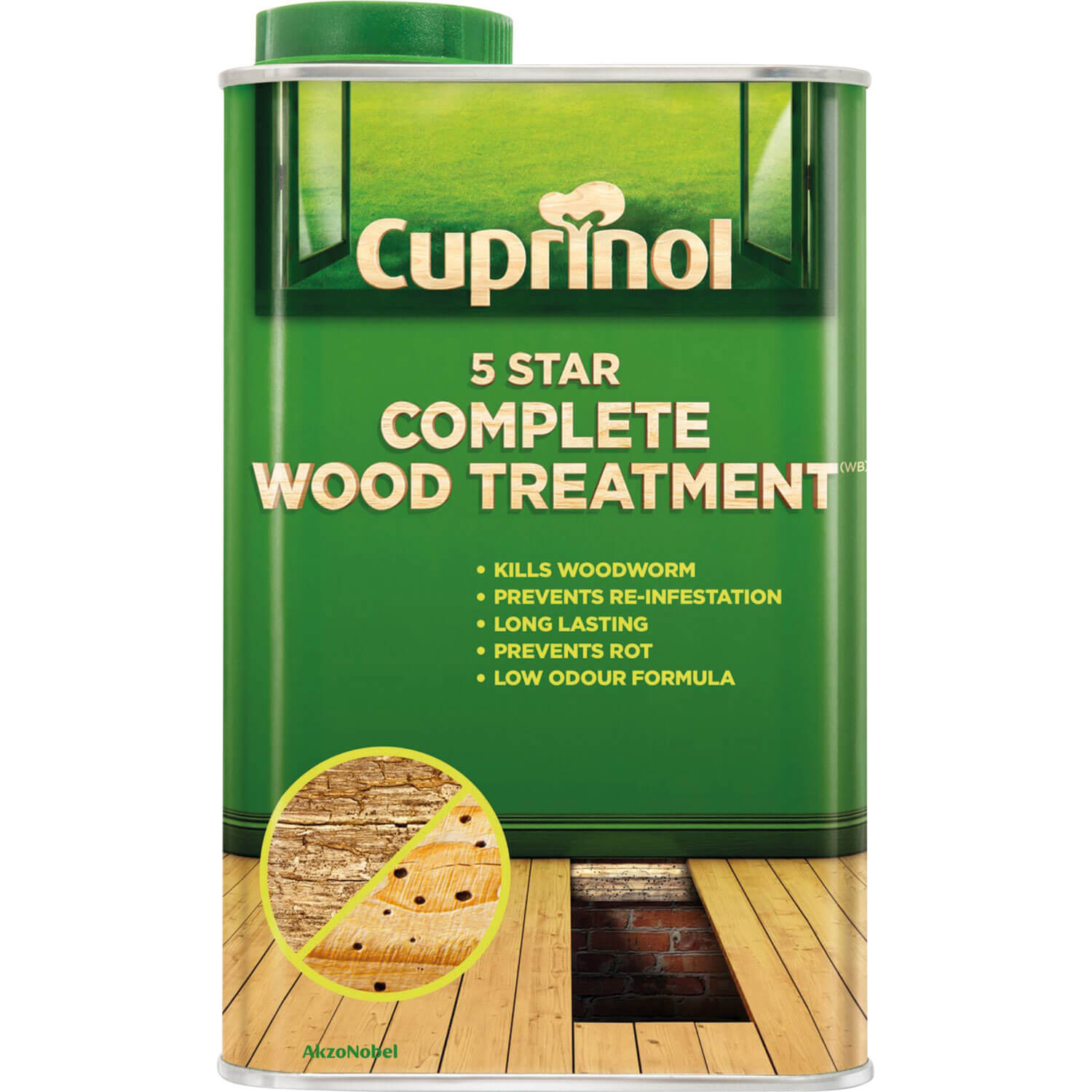 Cuprinol 5 Star Complete Wood Treatment for Interior Use 1L