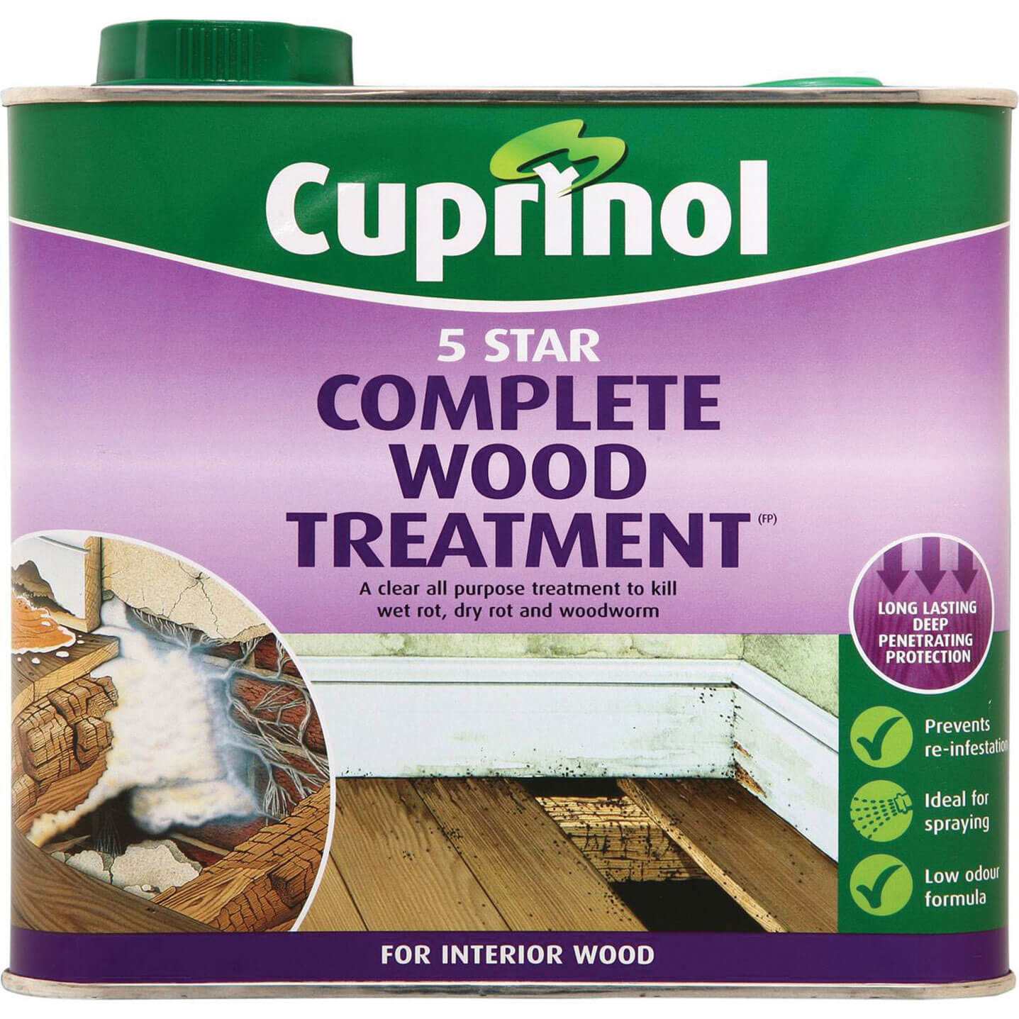 Cuprinol 5 Star Complete Wood Treatment for Interior Use 2.5L