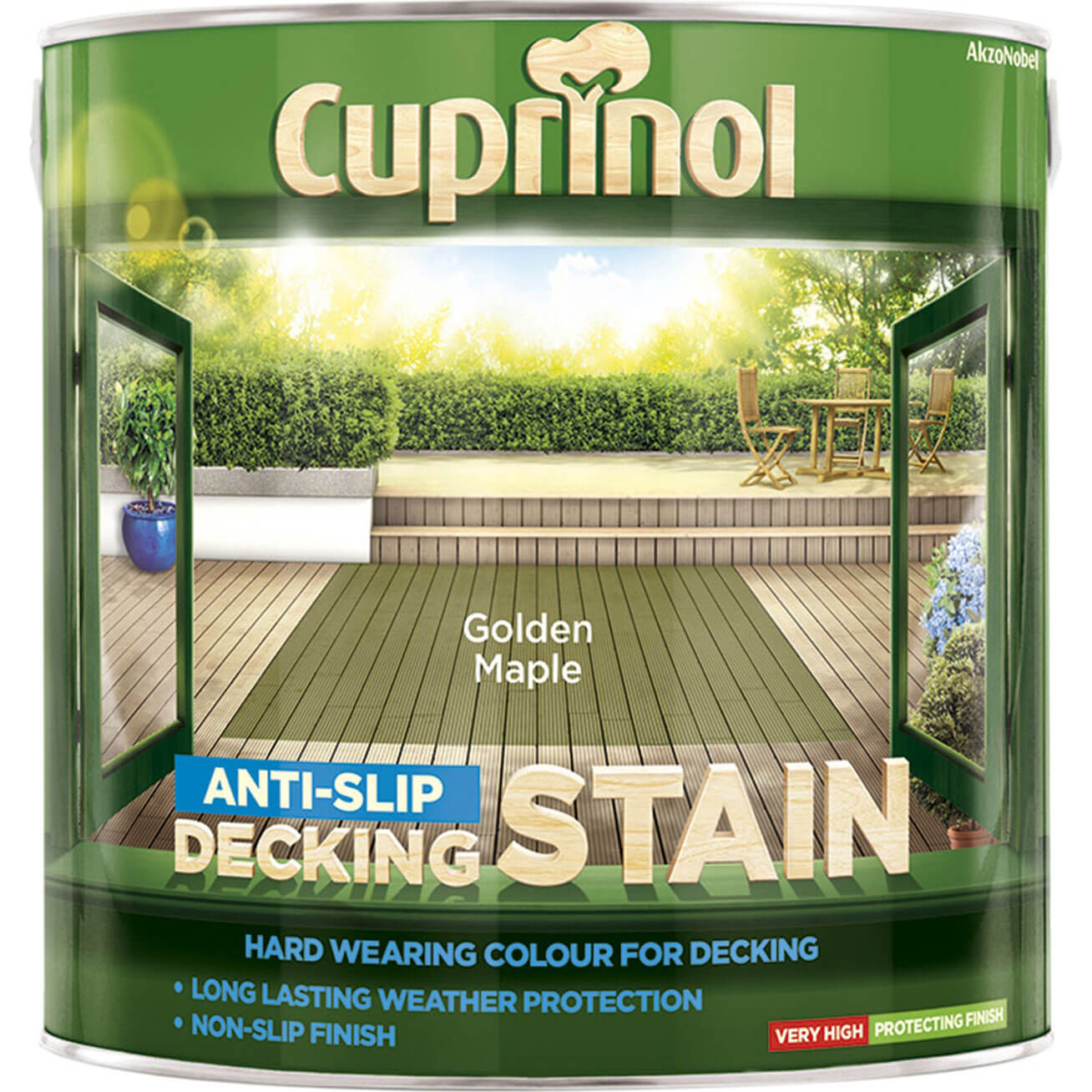 Cuprinol Anti-slip Decking Stain Golden Maple 2.5L