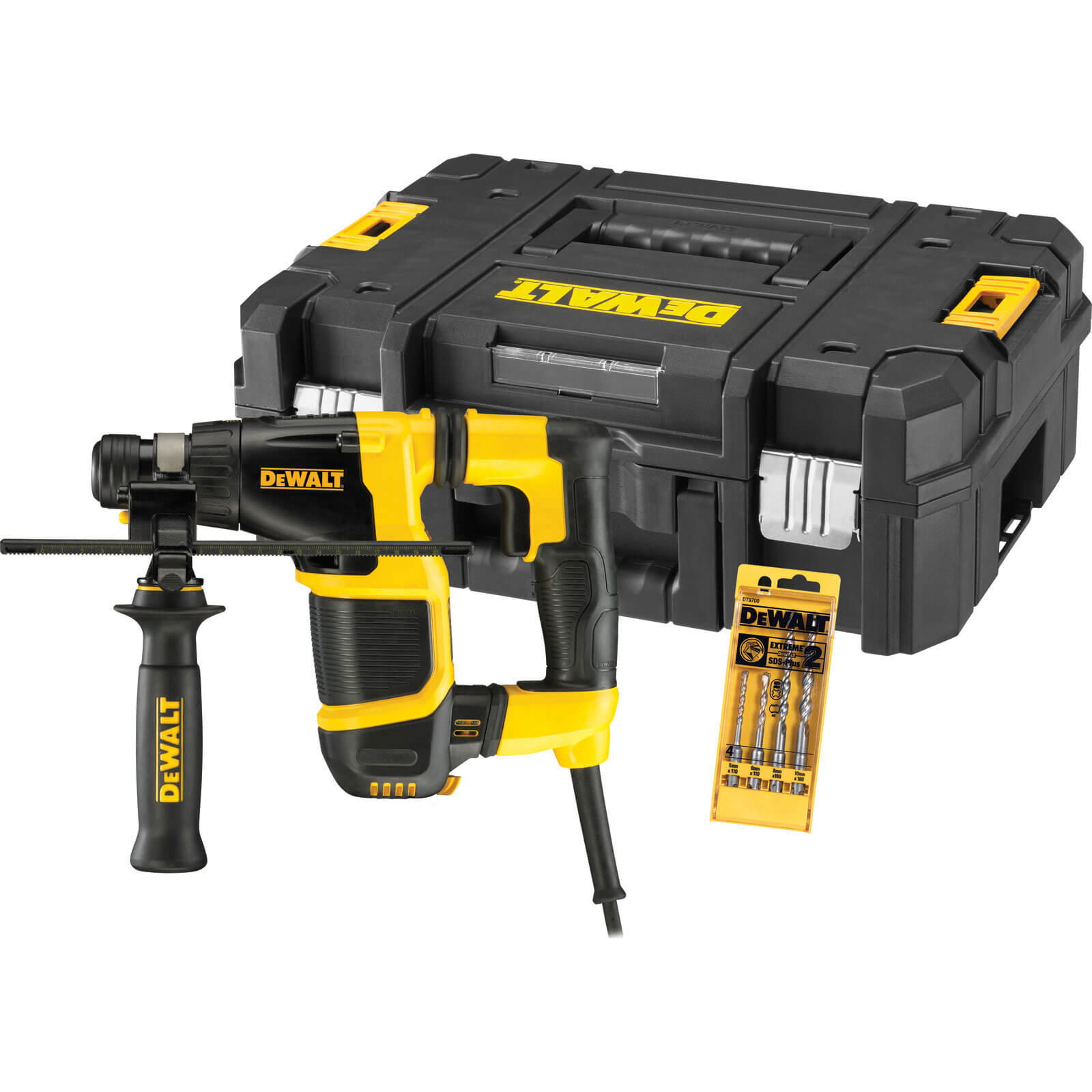 Image of DeWalt D25052KT SDS Plus Compact Hammer Drill with 20mm Chuck 650w 240v