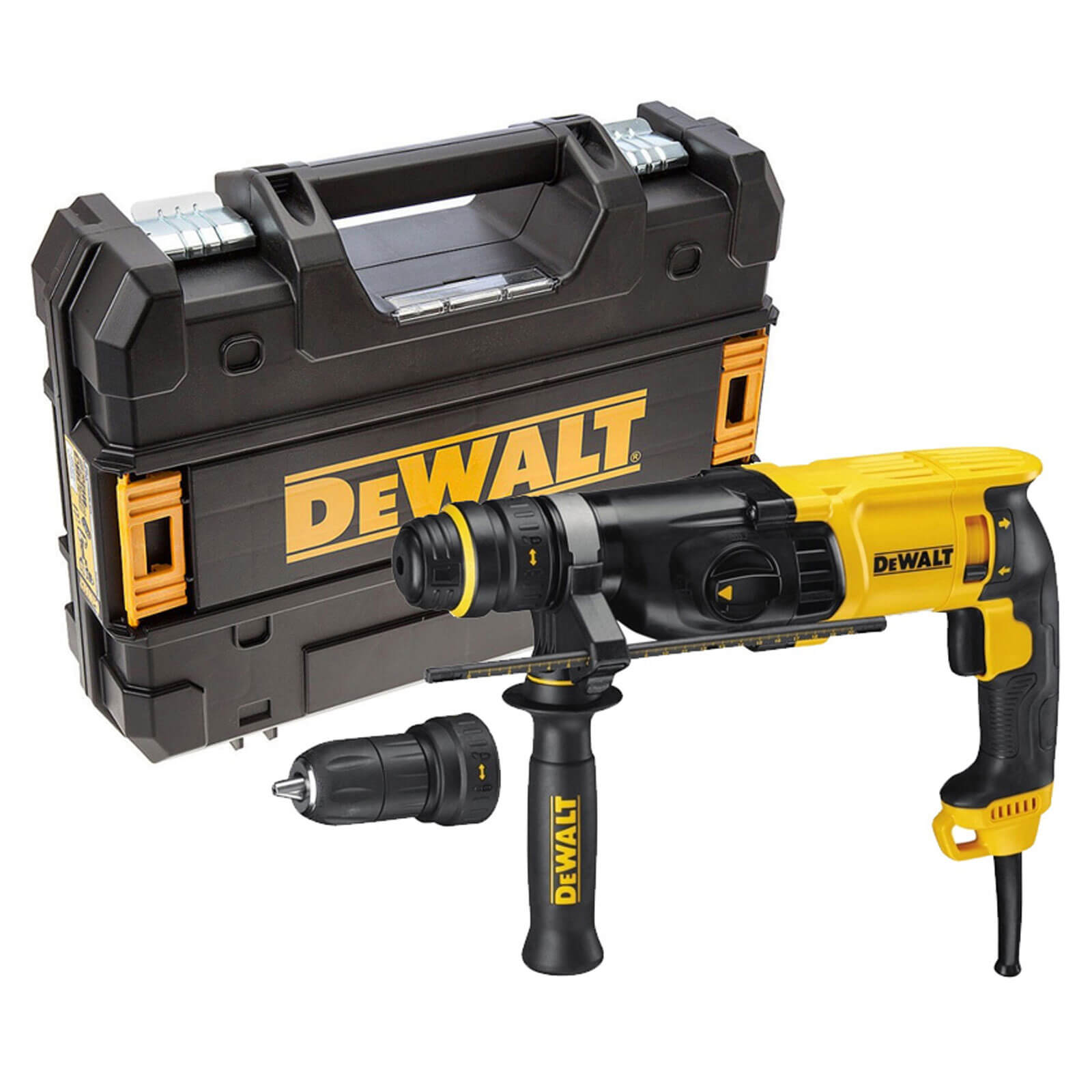 Image of DeWalt D25134K SDS Plus Hammer Drill 3 Mode 800w with Quick Change Chuck 110v