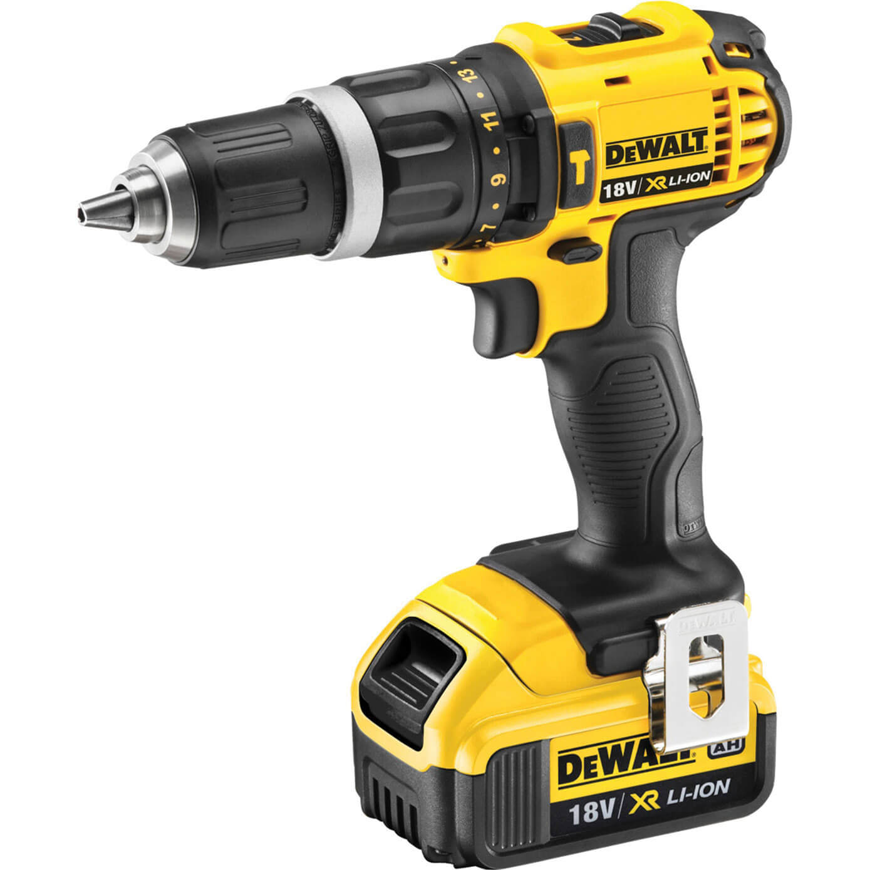DeWalt DCD785M2 18v Cordless XR Compact 2 Speed Combi Drill with 2 Liion Batteries 4ah