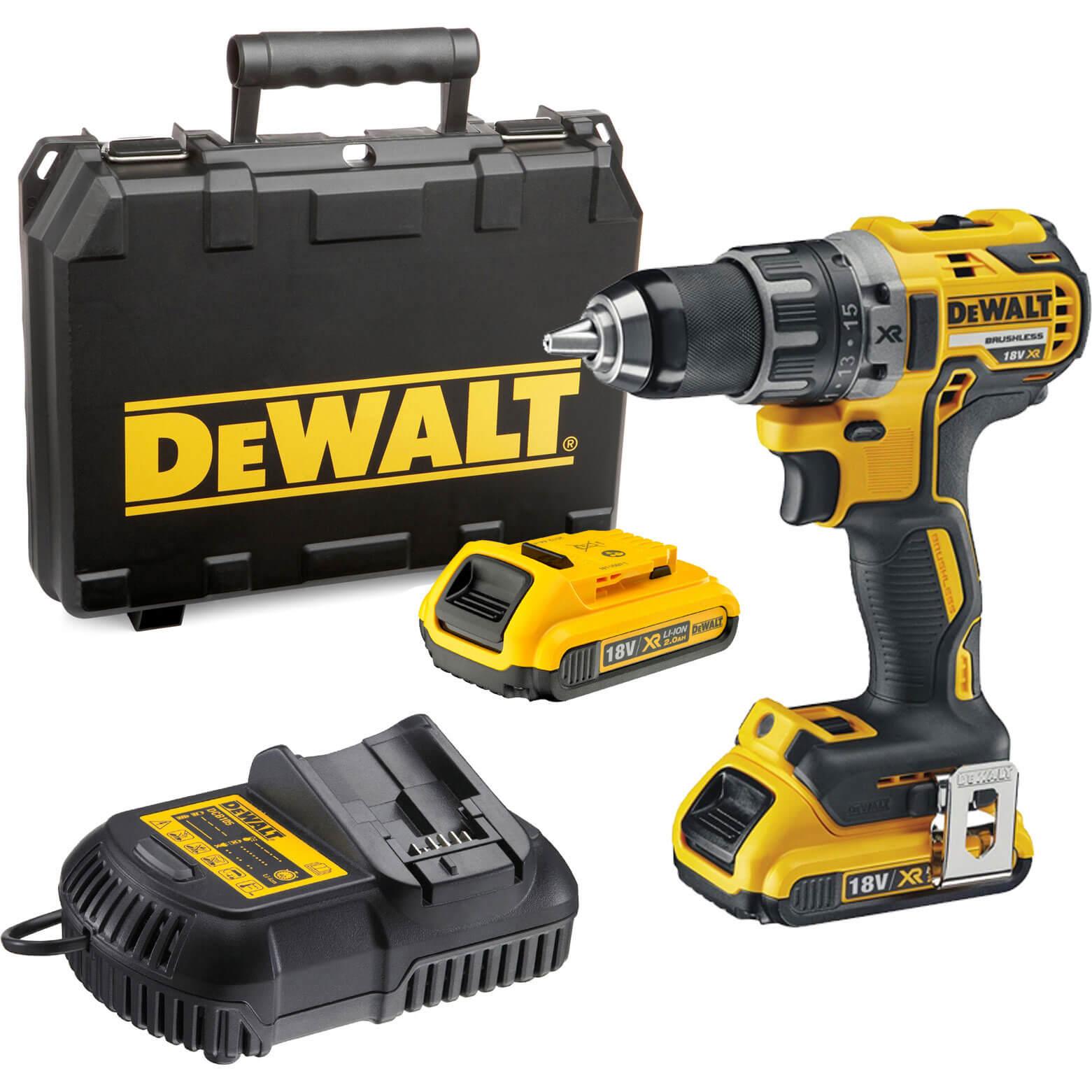 DeWalt DCD791D2 18v Cordless XR Brushless Drill Driver with 2 Liion Batteries 2ah