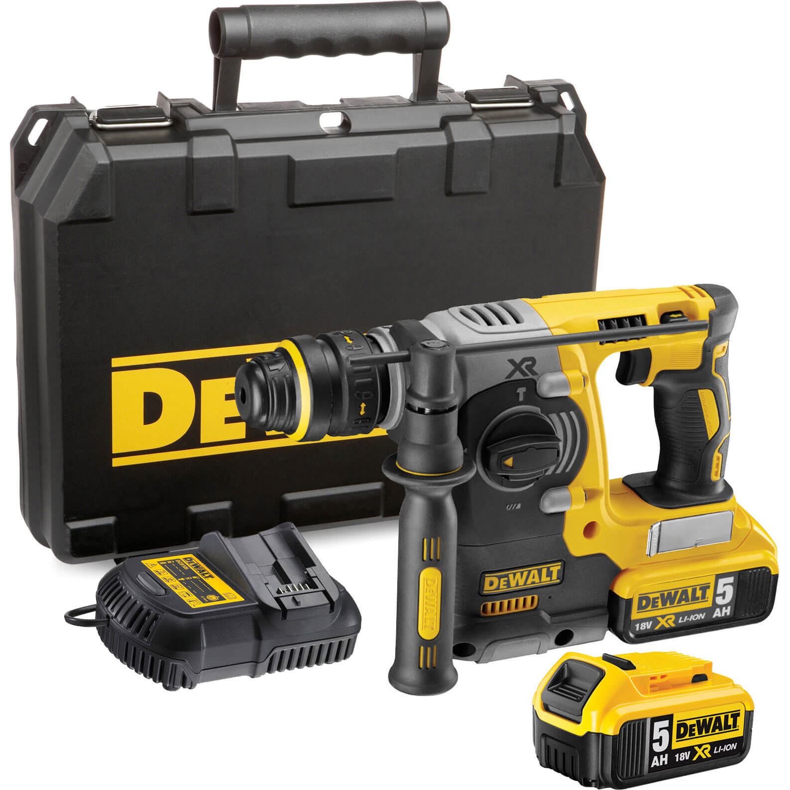 DeWalt DCH273P2 18v Cordless Brushless XR Rotary SDS Hammer Drill with 2 Liion Batteries 5ah