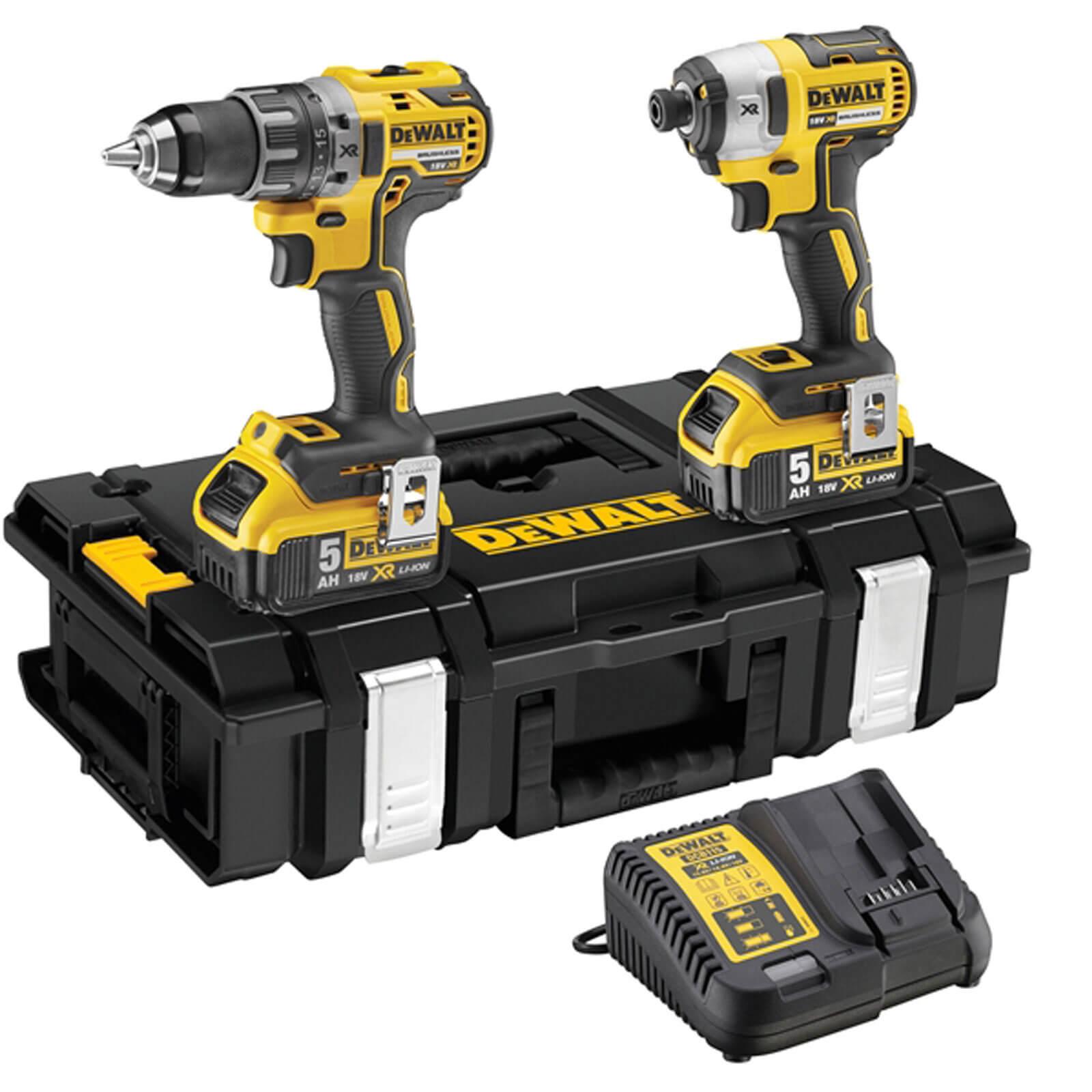 DeWalt DCK266P2 18v Cordless XR Brushless Combi Drill & Impact Driver with 2 Liion Batteries 5ah