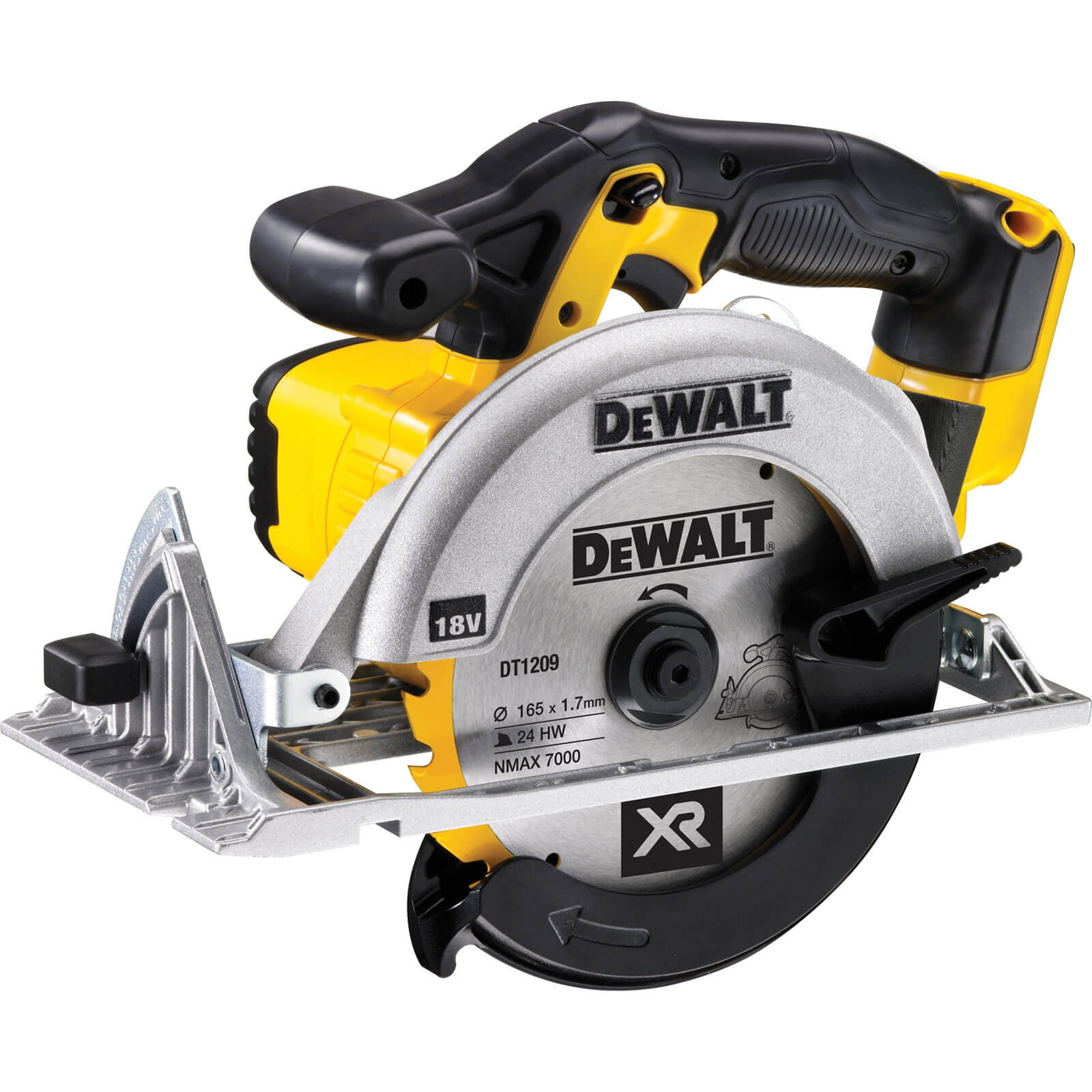 Image of DeWalt DCS391N 18v Cordless XR Circular Saw 165mm Blade without Battery or Charger