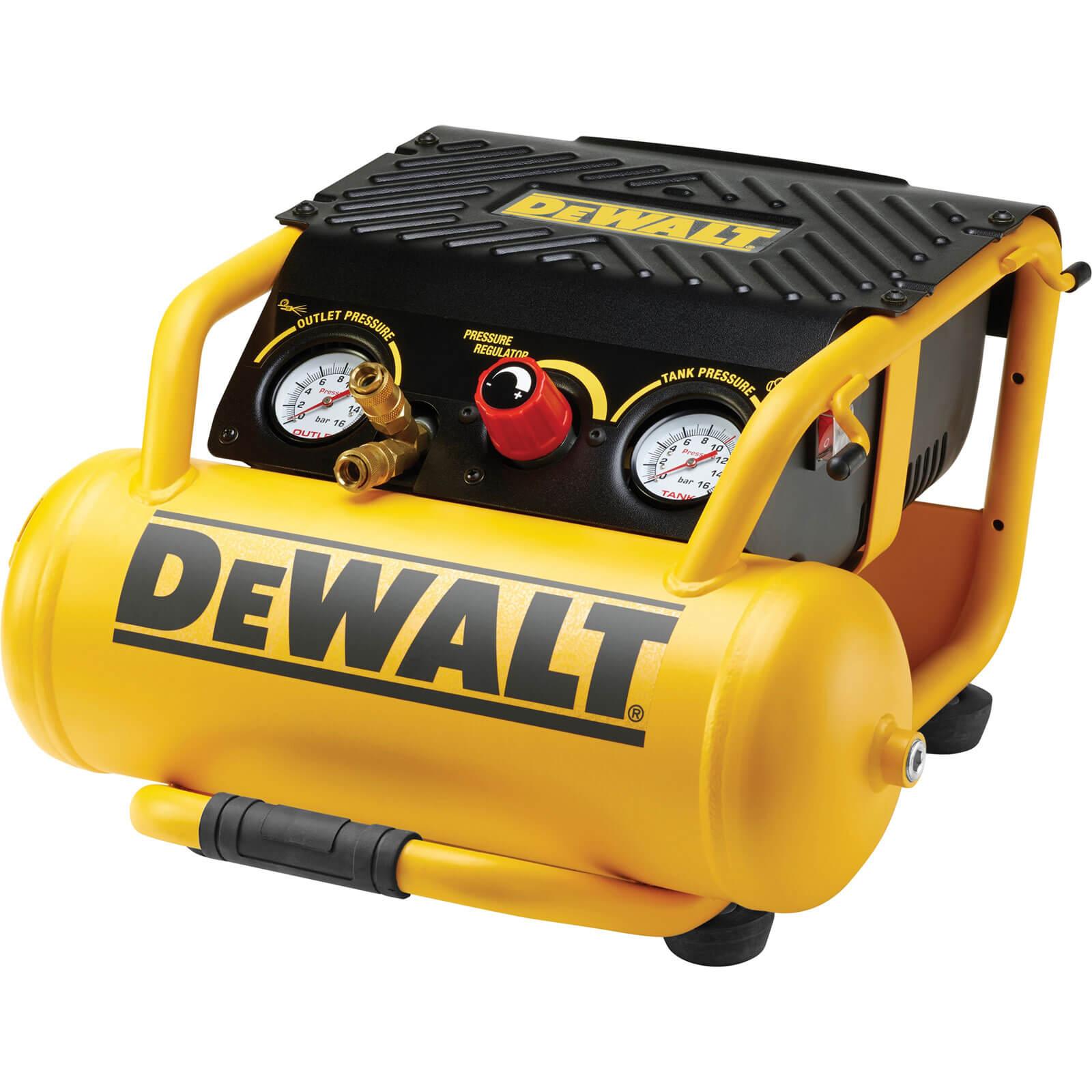 DeWalt DPC10RC Roll Cage Electric Air Compressor 10L Tank 110v