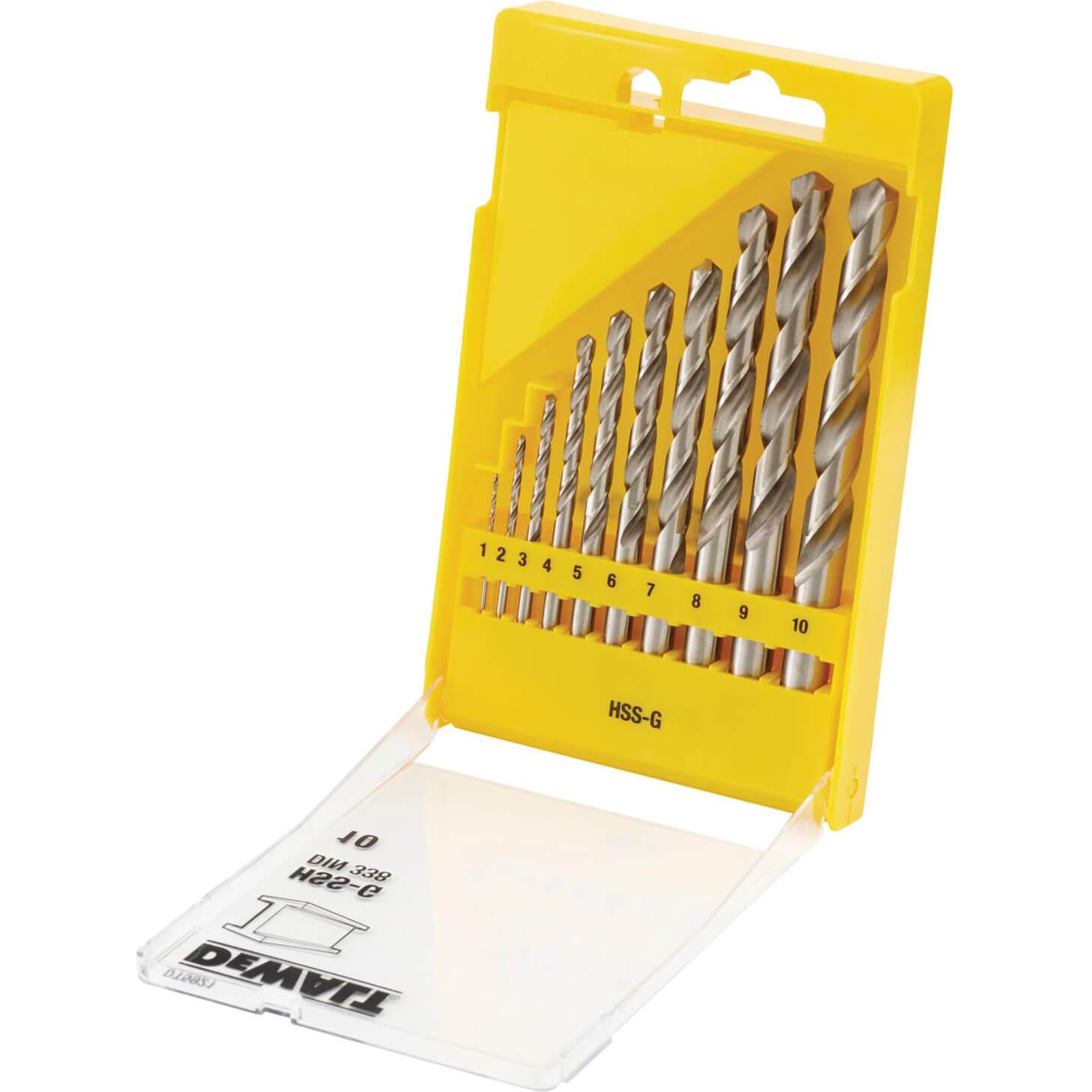 DeWalt 10 Piece HSS-G Metal Drill Bit Set 1 - 10mm