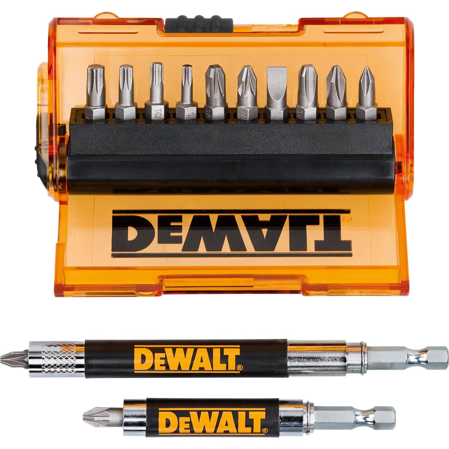 DeWalt 14 Piece Screwdriver Bit Set Pozi / Phillips / Slotted / Torx