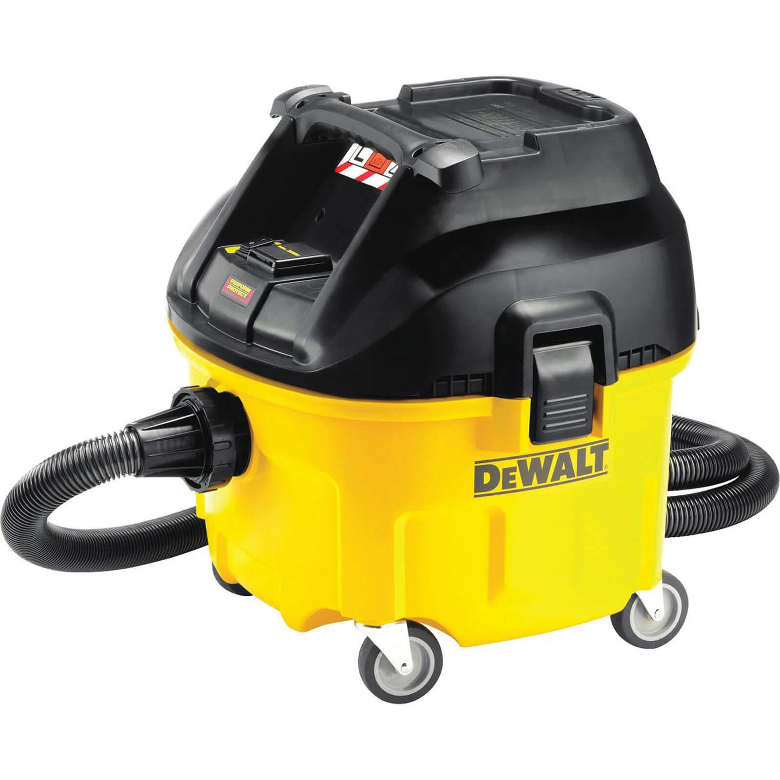 Image of DeWalt DWV901L Compact L Class Wet & Dry Dust Extractor 30L 1400 Watt 110v